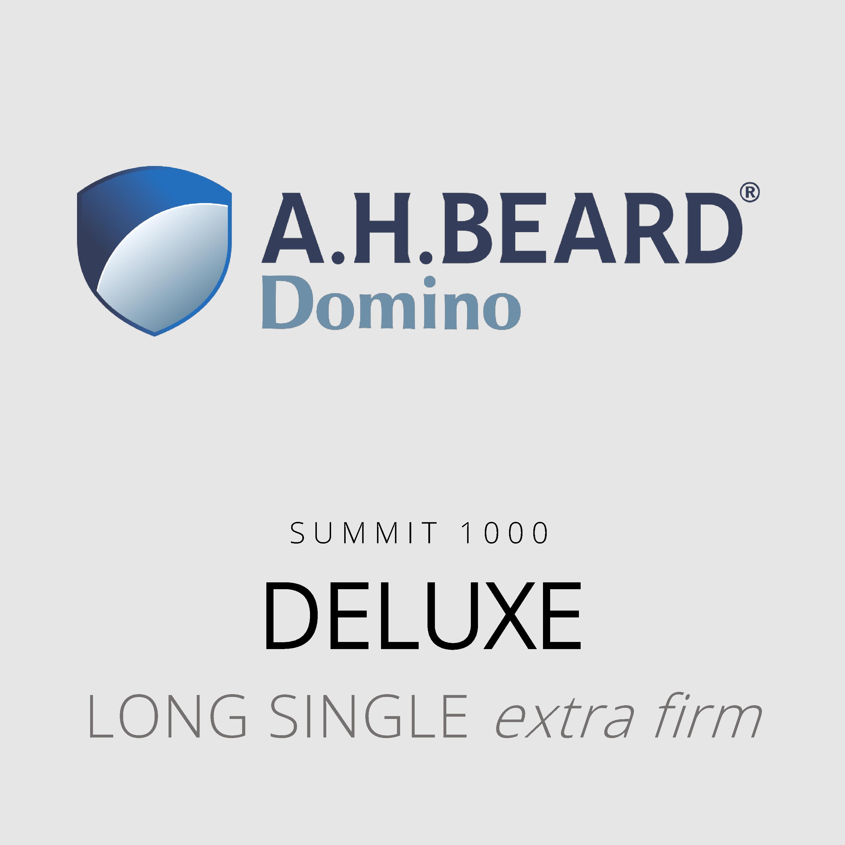 AH Beard Domino – Deluxe – Summit 1000 – Long Single Extra Firm Mattress