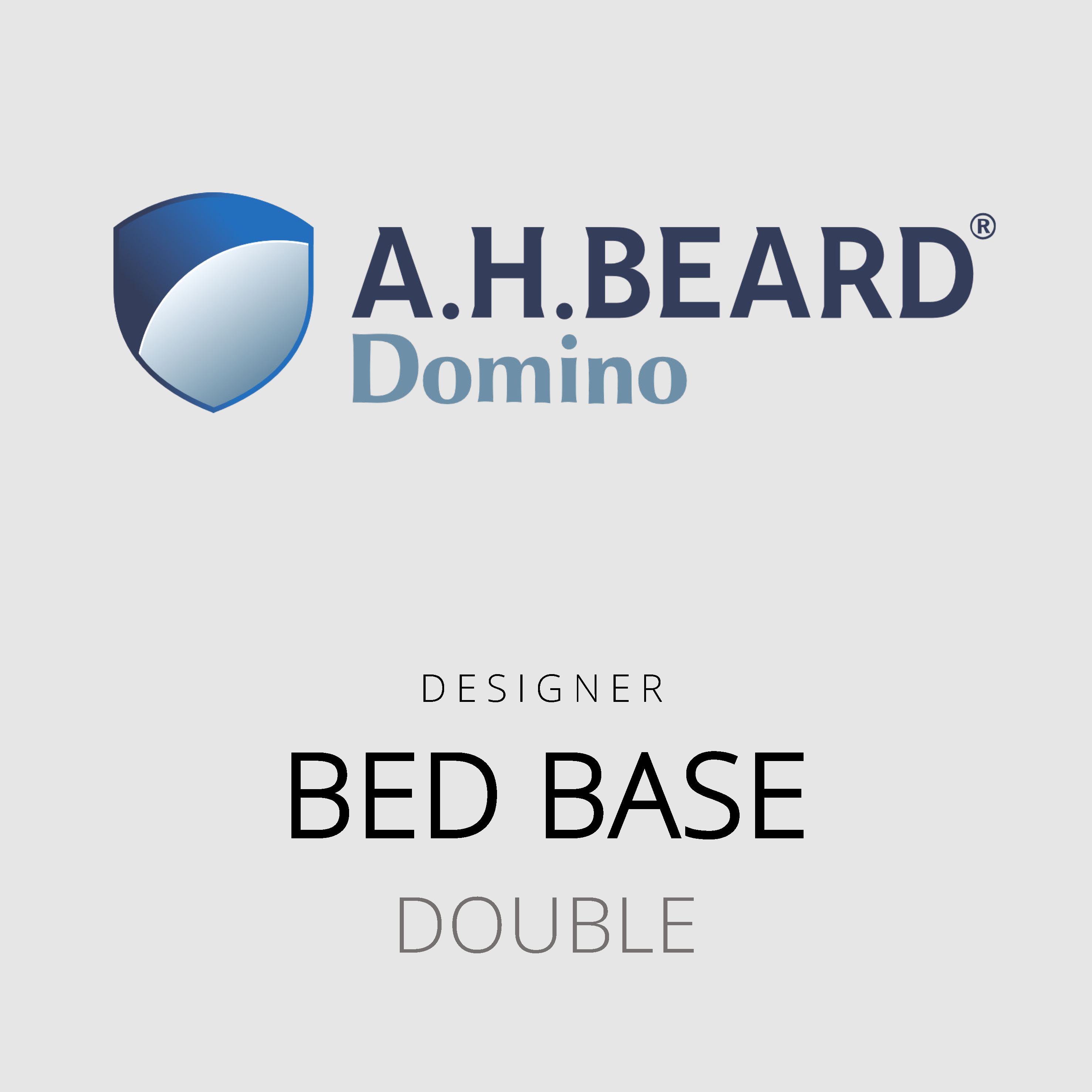 AH Beard Domino – Double Bed Base