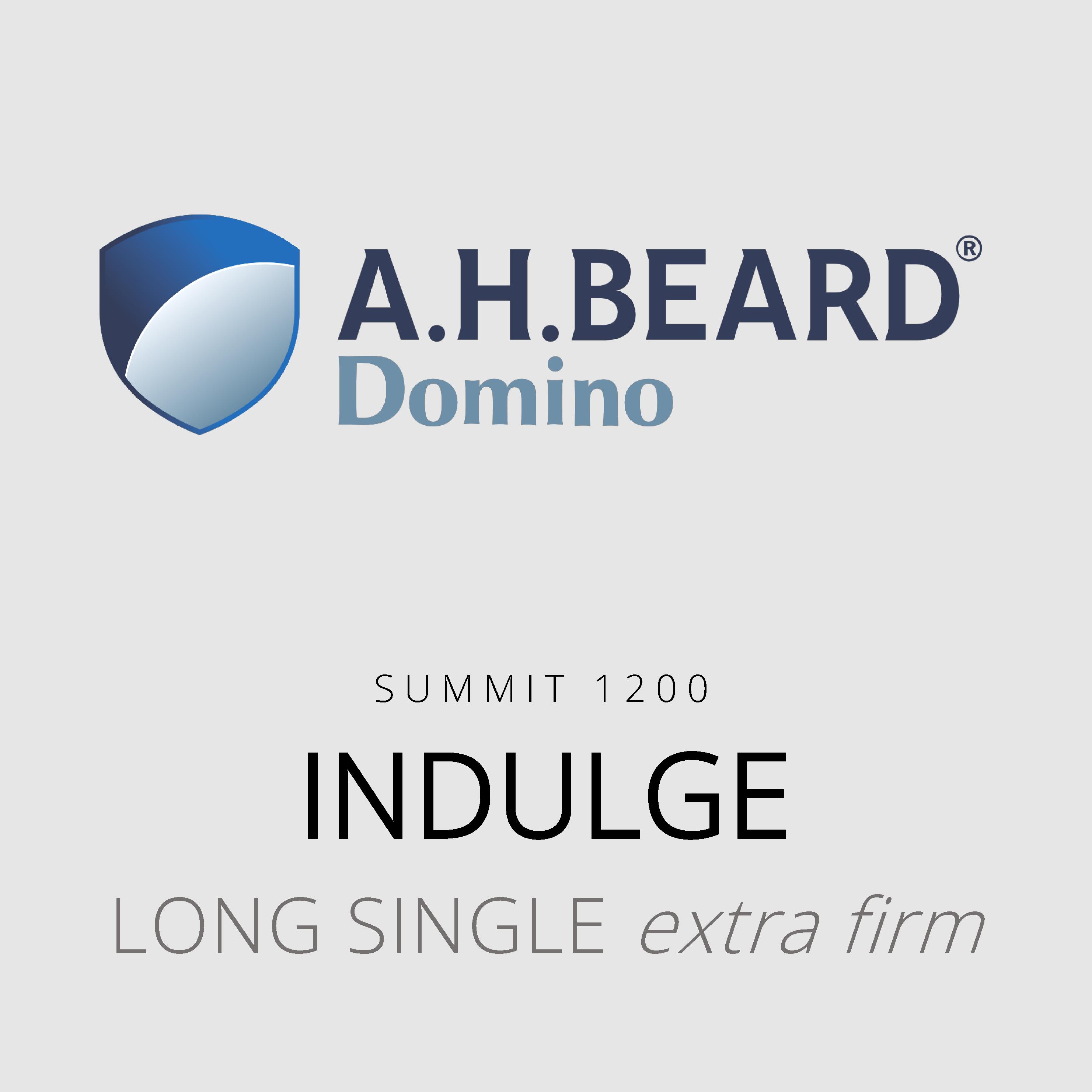 AH Beard Domino – Indulge – Summit 1200 – Long Single Extra Firm Mattress
