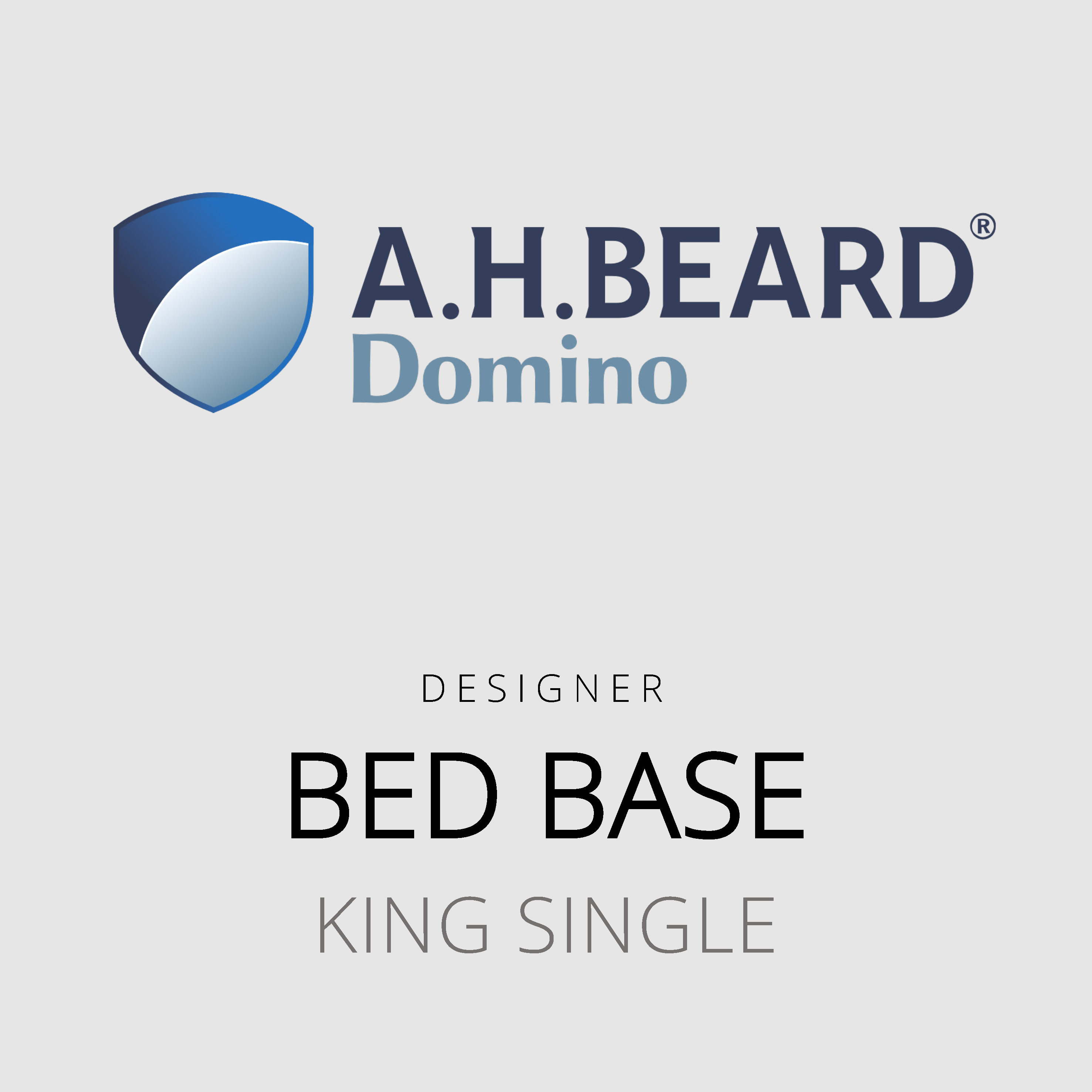 AH Beard Domino – King Single Bed Base