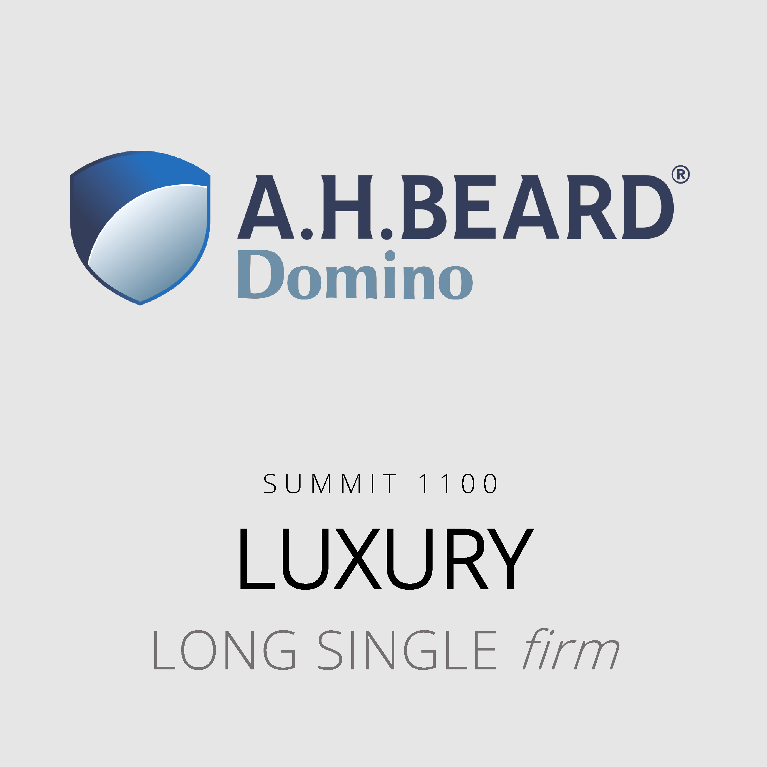 AH Beard Domino – Luxury – Summit 1100 – Long Single Firm Mattress