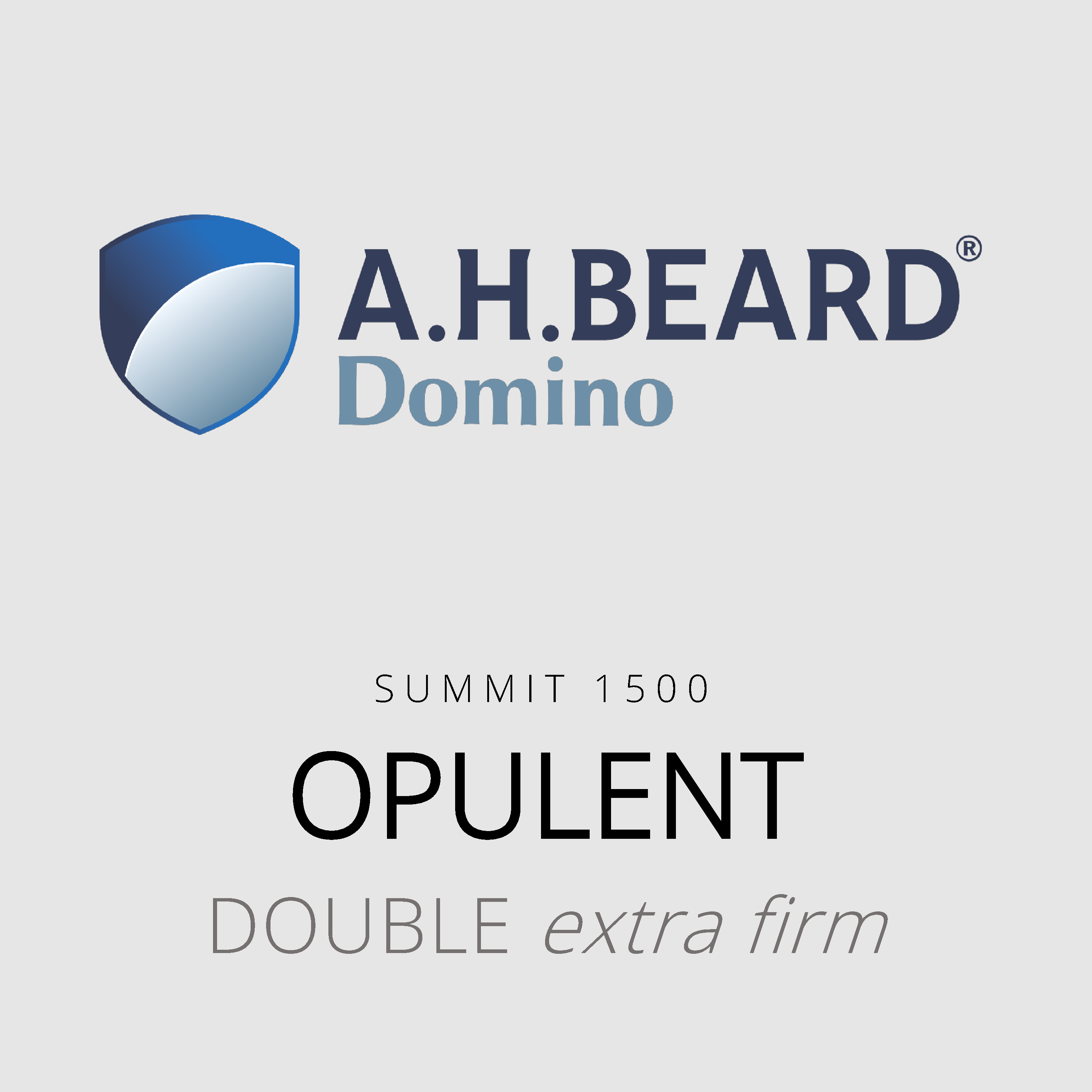 AH Beard Domino – Opulent – Summit 1500 – Double Extra Firm Mattress
