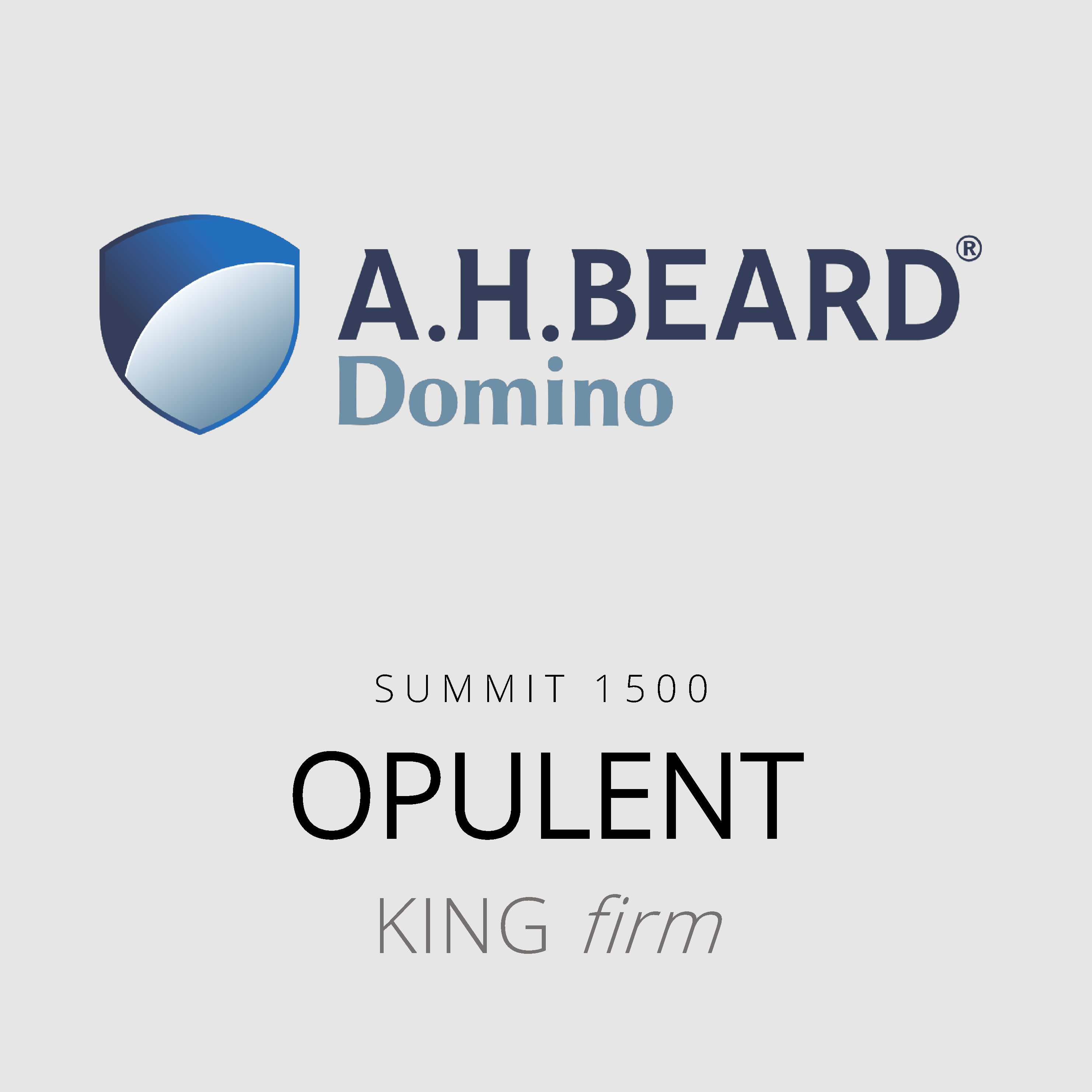 AH Beard Domino – Opulent – Summit 1500 – King Firm Mattress