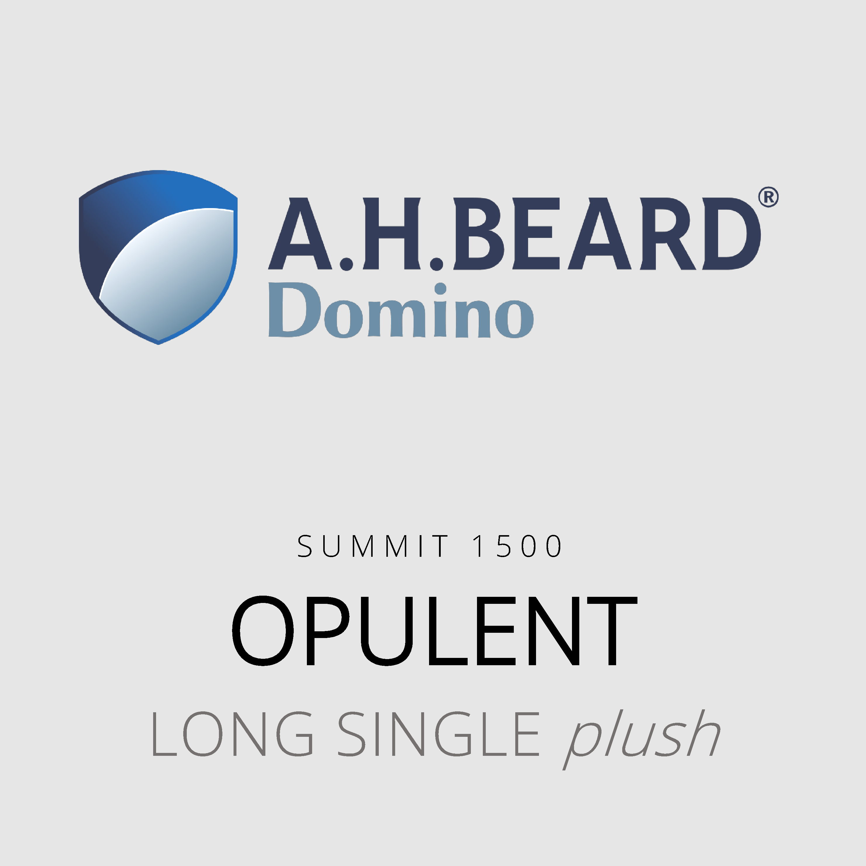 AH Beard Domino – Opulent – Summit 1500 – Long Single Plush Mattress