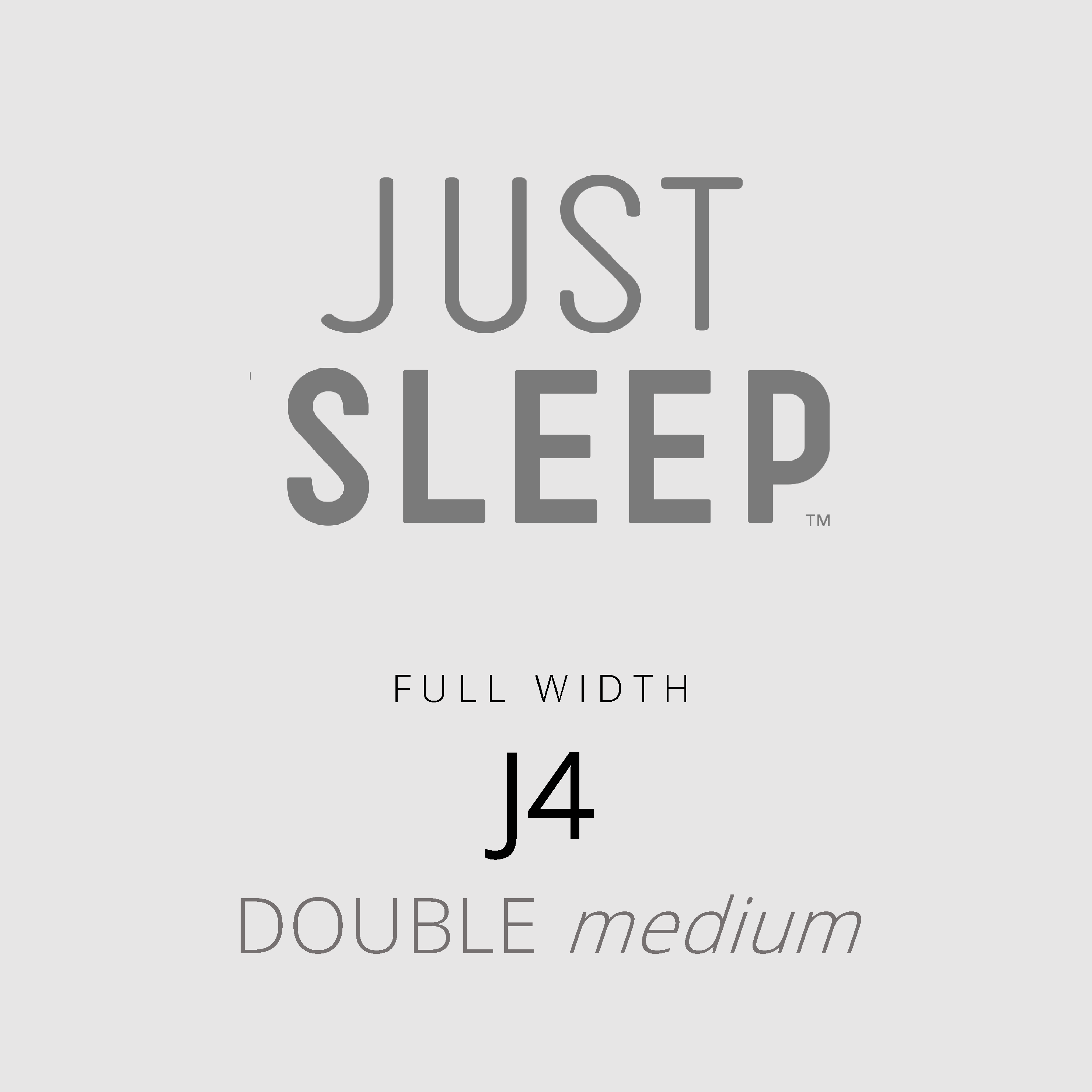 Just Sleep – J4 – Full Width – Double Medium Mattress