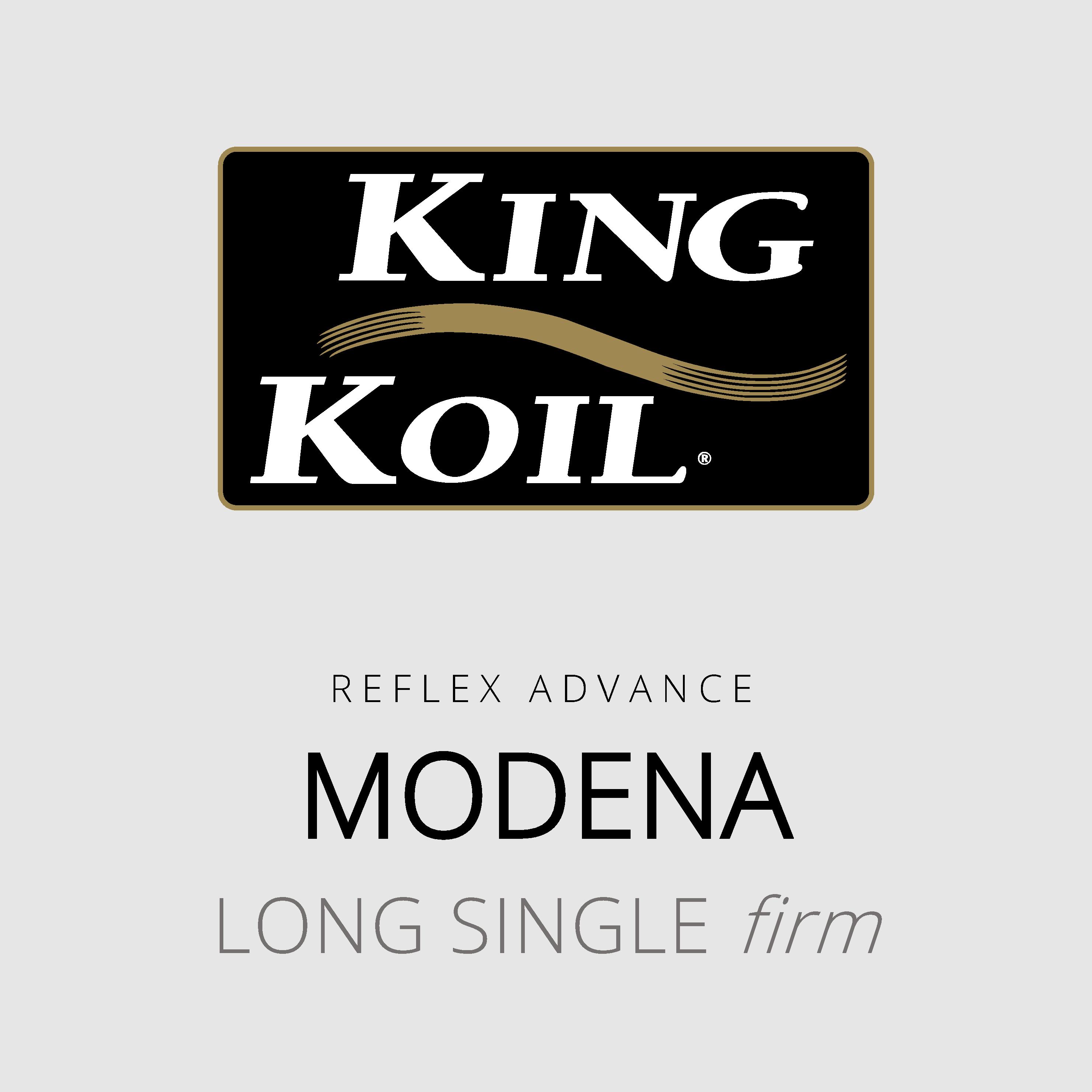 King Koil – Modena – Reflex Advance – Long Single Firm Mattress