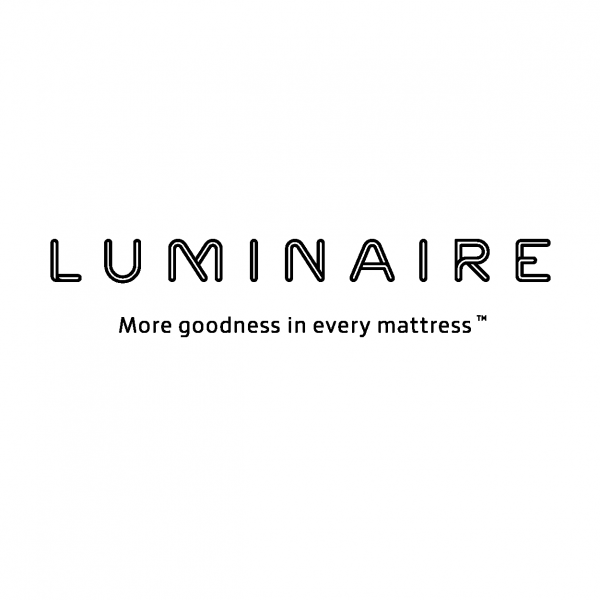 Luminaire More Goodness in Every Mattress Logo