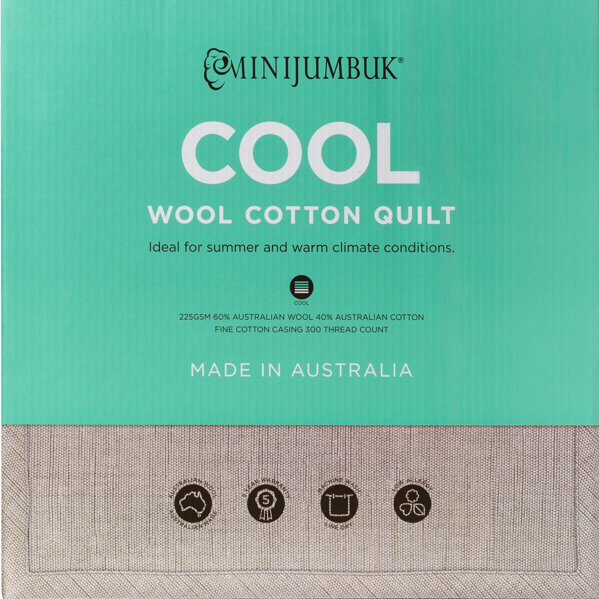 MiniJumbuk – Cool Wool Cotton Quilt