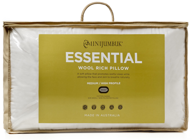 MiniJumbuk – Essential Wool Rich Medium High Pillow
