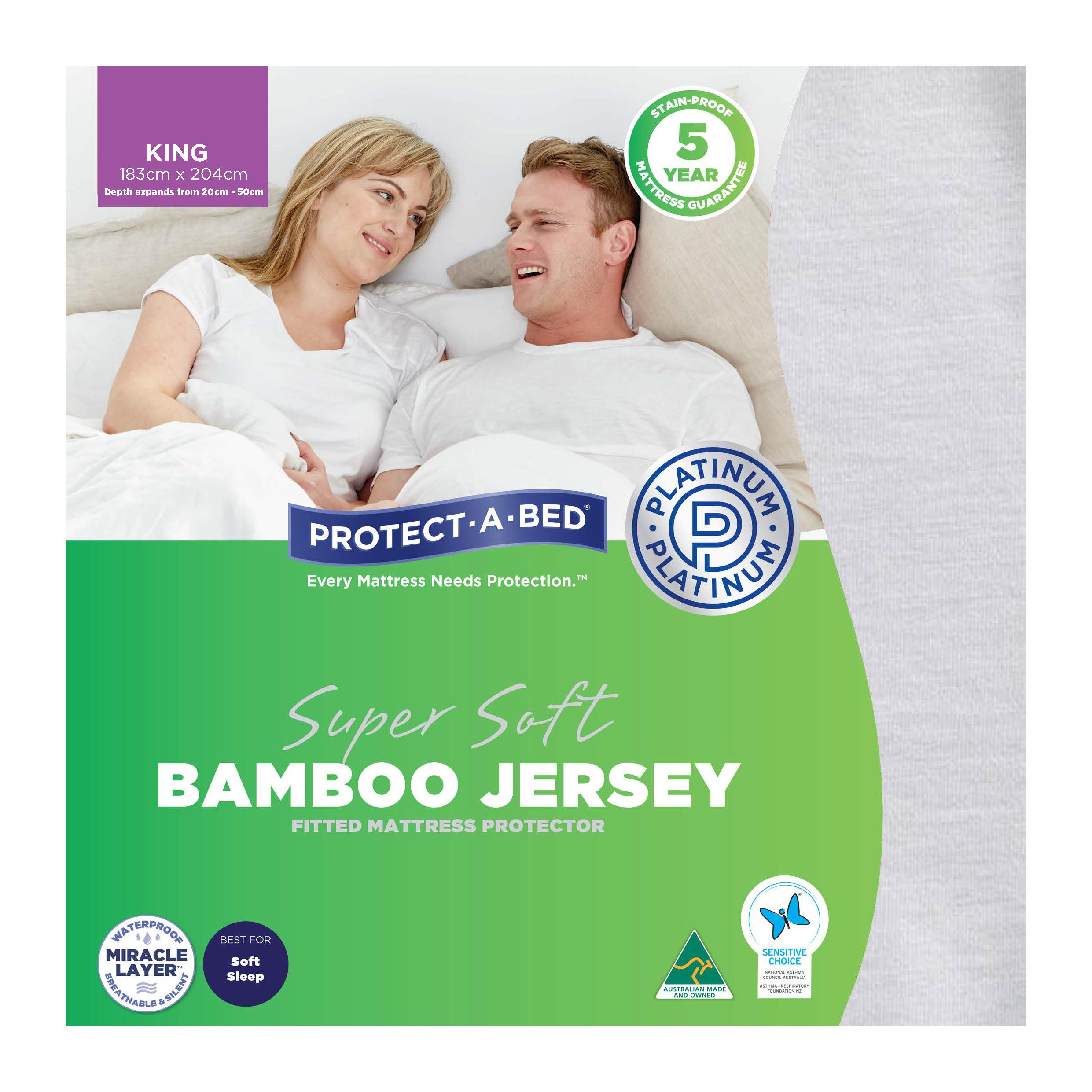 Protect-A-Bed Bamboo Jersey – King Mattress Protector