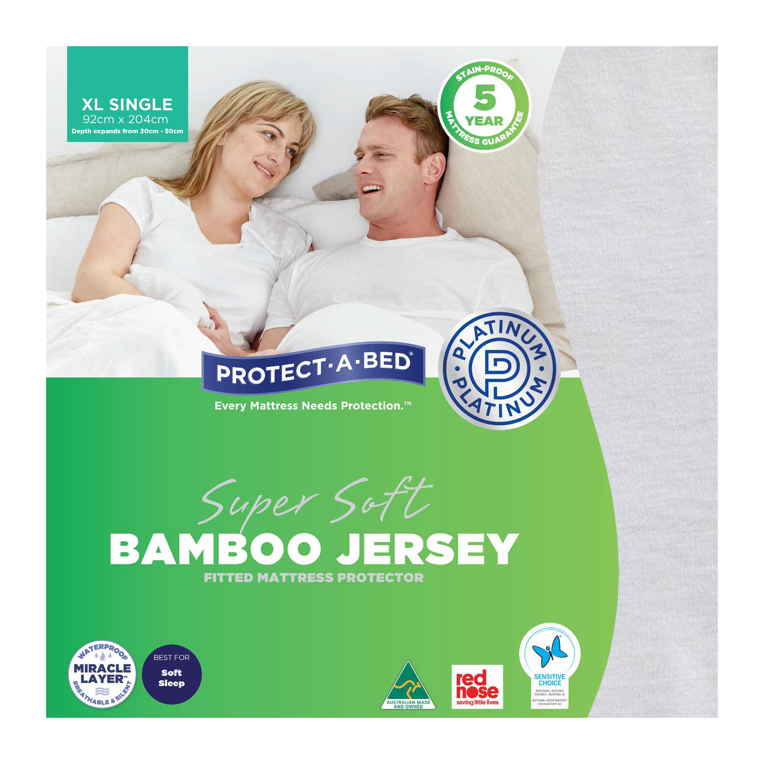 Protect-A-Bed Bamboo Jersey – Long Single Mattress Protector