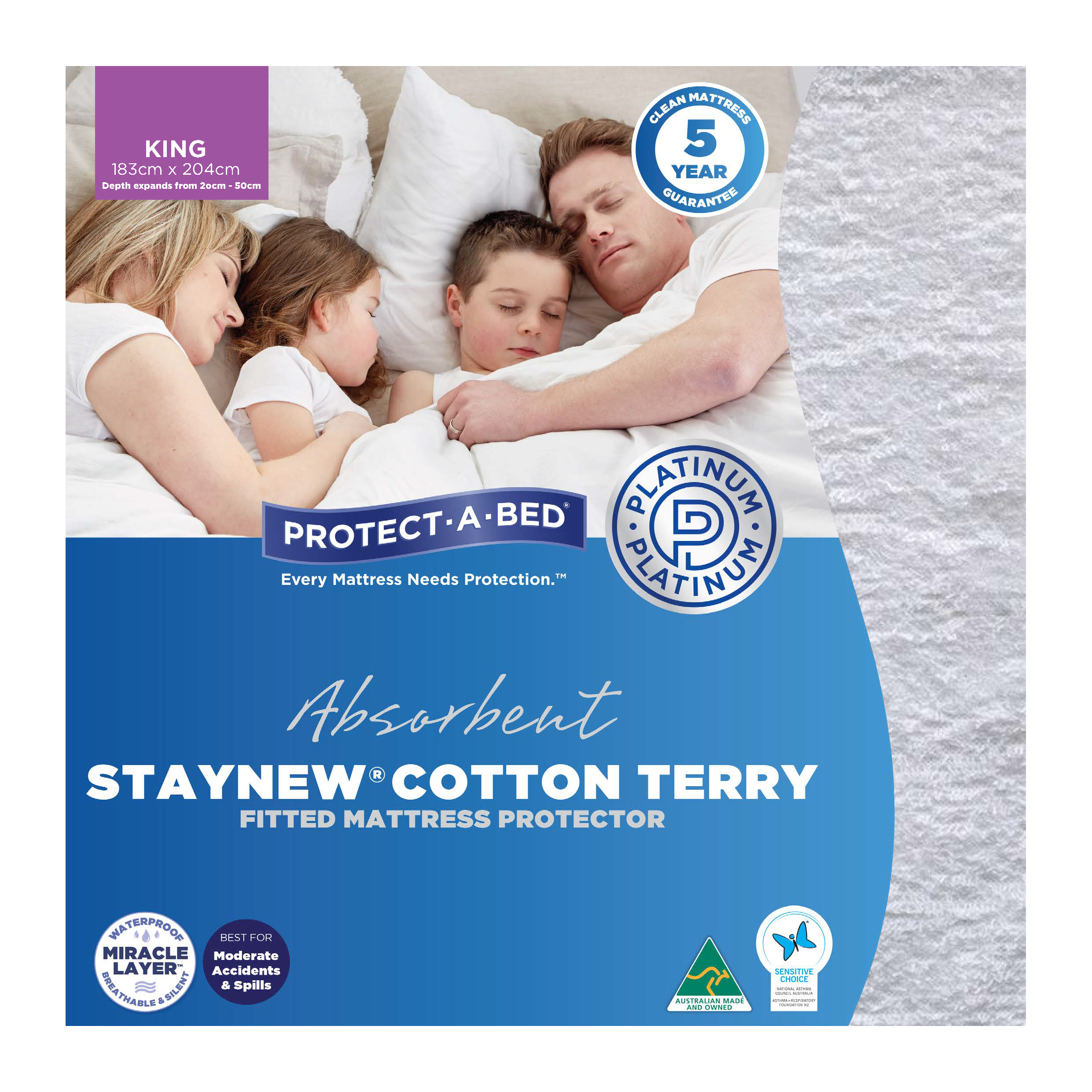 Protect-A-Bed Cotton Terry – King Mattress Protector