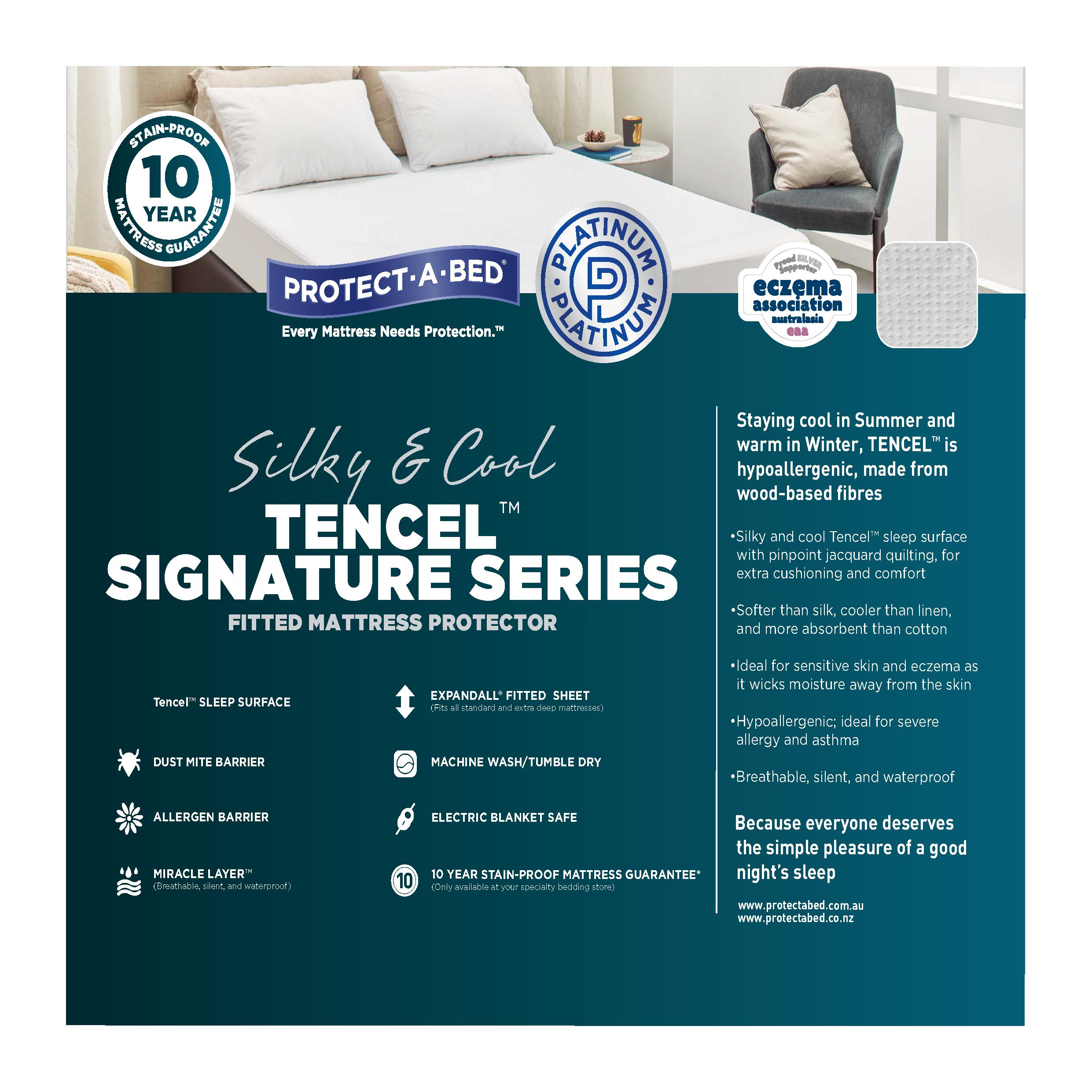Protect-A-Bed Tencel Signature - Queen Mattress Protector ...