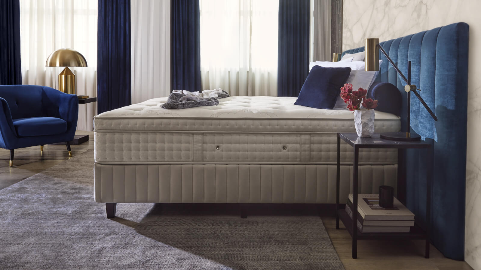 Sealy Crown Jewel Mattress and Ensemble Side View