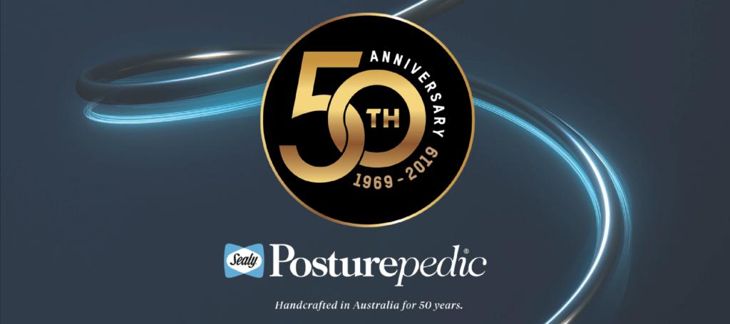 Sealy Posturepdic 50th Anniversary Banner