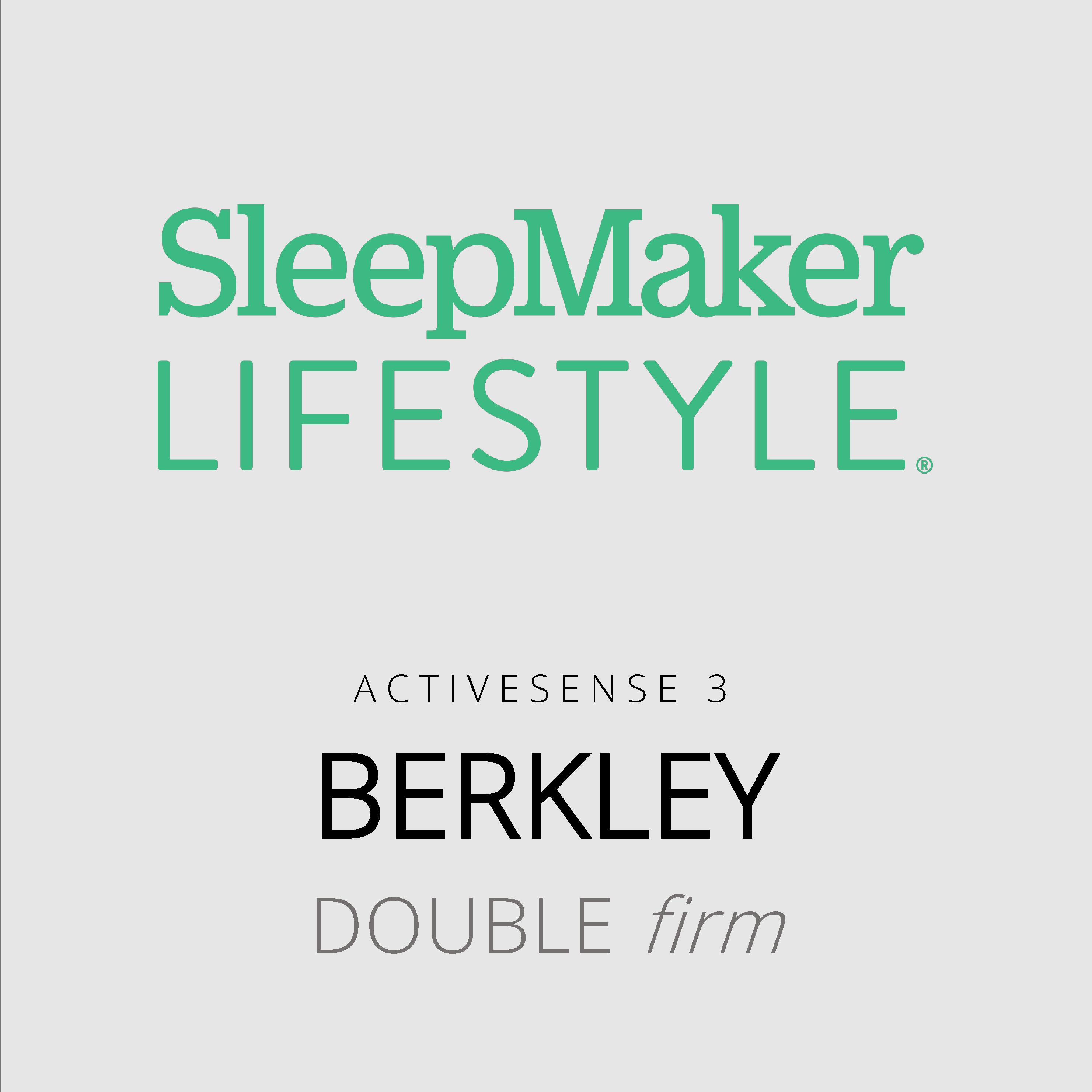 SleepMaker Lifestyle – Berkley – ActiveSense 3 – Double Firm Mattress