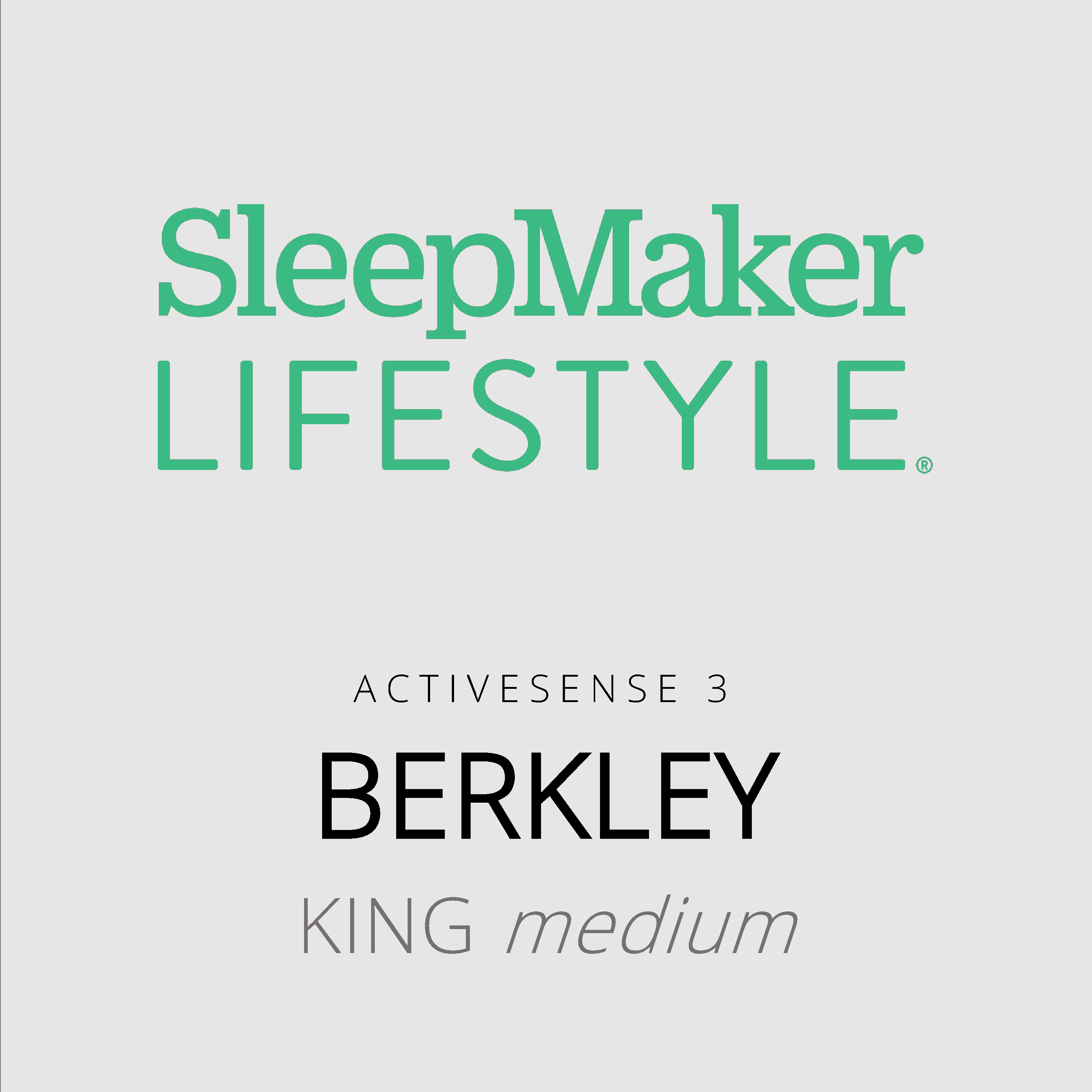 SleepMaker Lifestyle – Berkley – ActiveSense 3 – King Medium Mattress