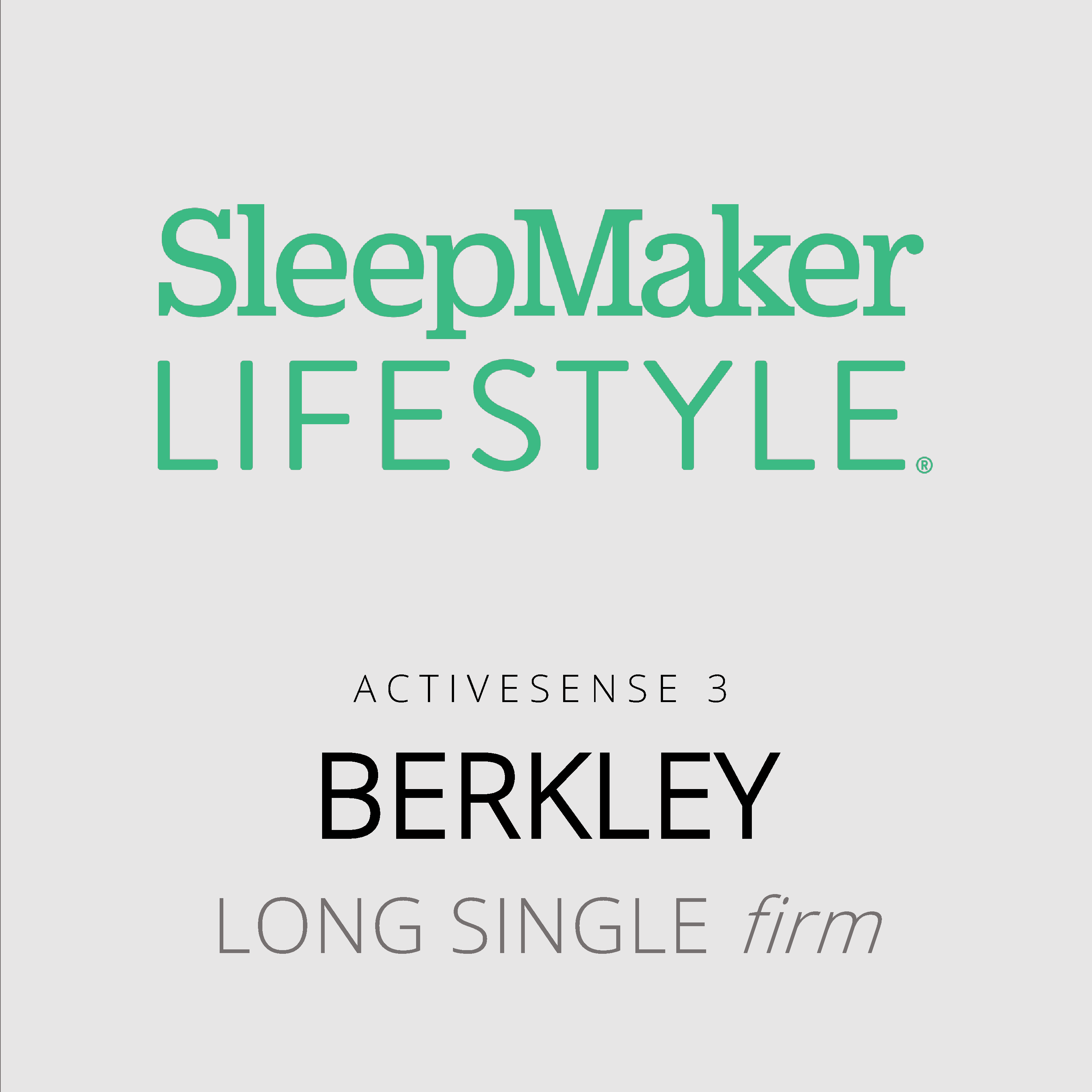 SleepMaker Lifestyle – Berkley – ActiveSense 3 – Long Single Firm Mattress