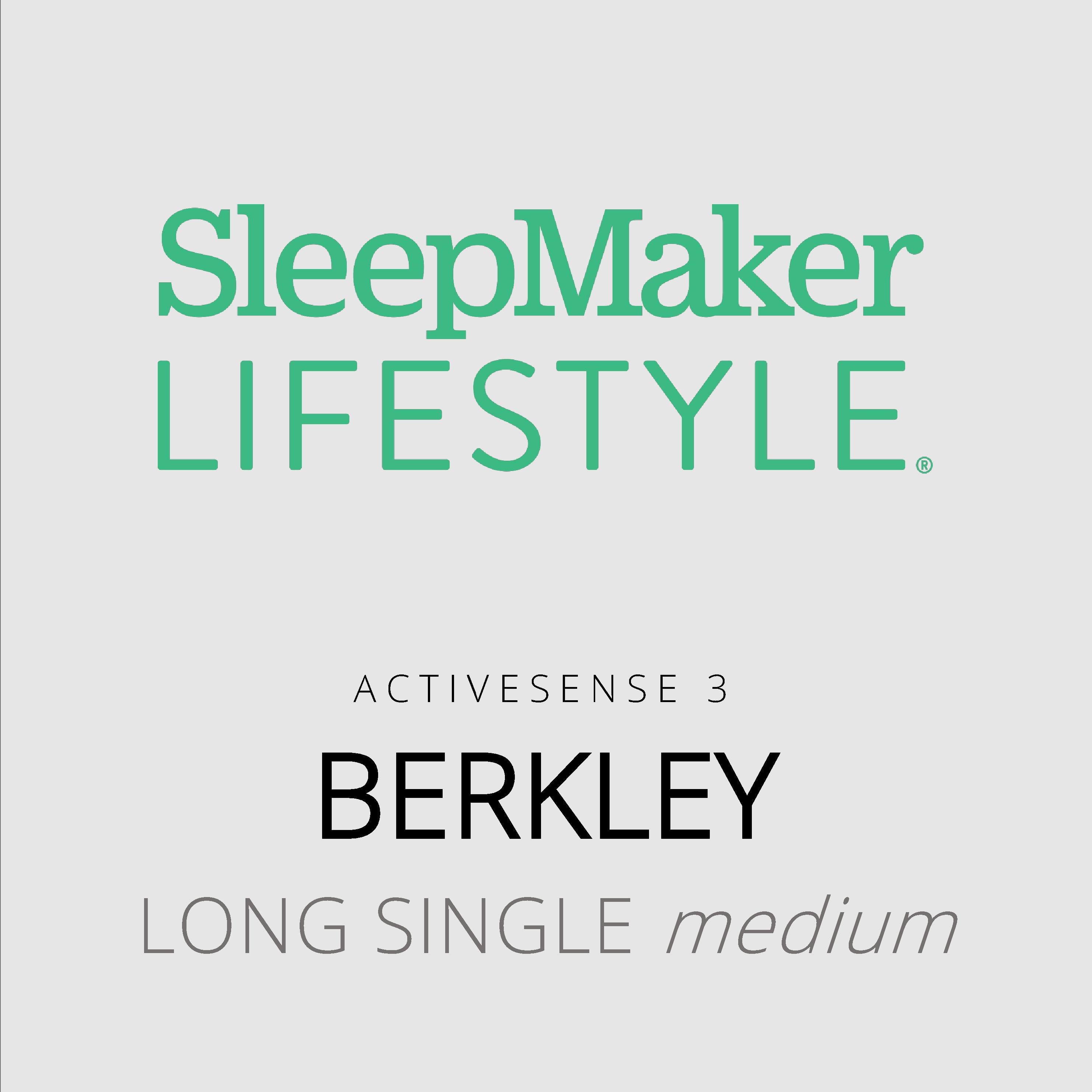 SleepMaker Lifestyle – Berkley – ActiveSense 3 – Long Single Medium Mattress