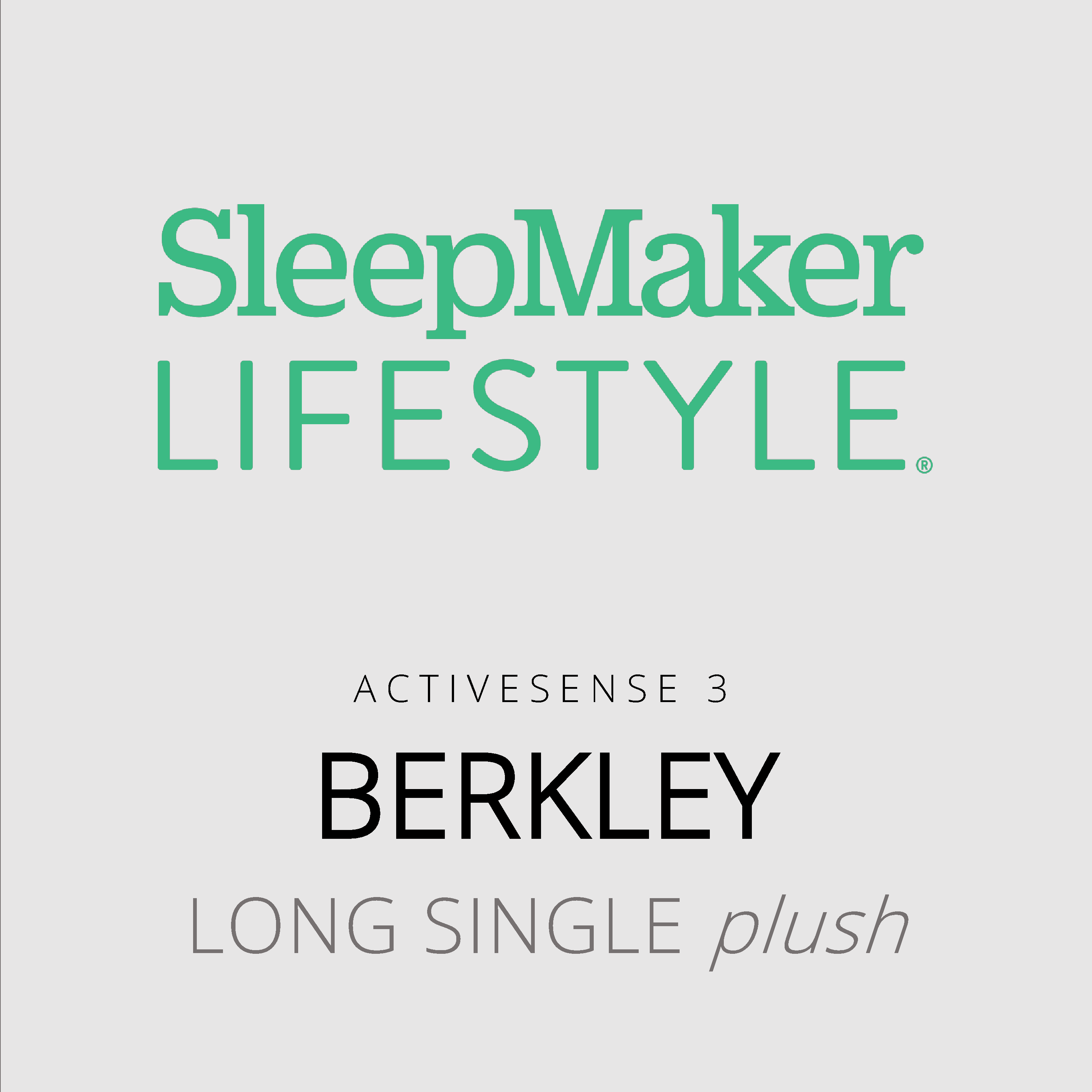 SleepMaker Lifestyle – Berkley – ActiveSense 3 – Long Single Plush Mattress