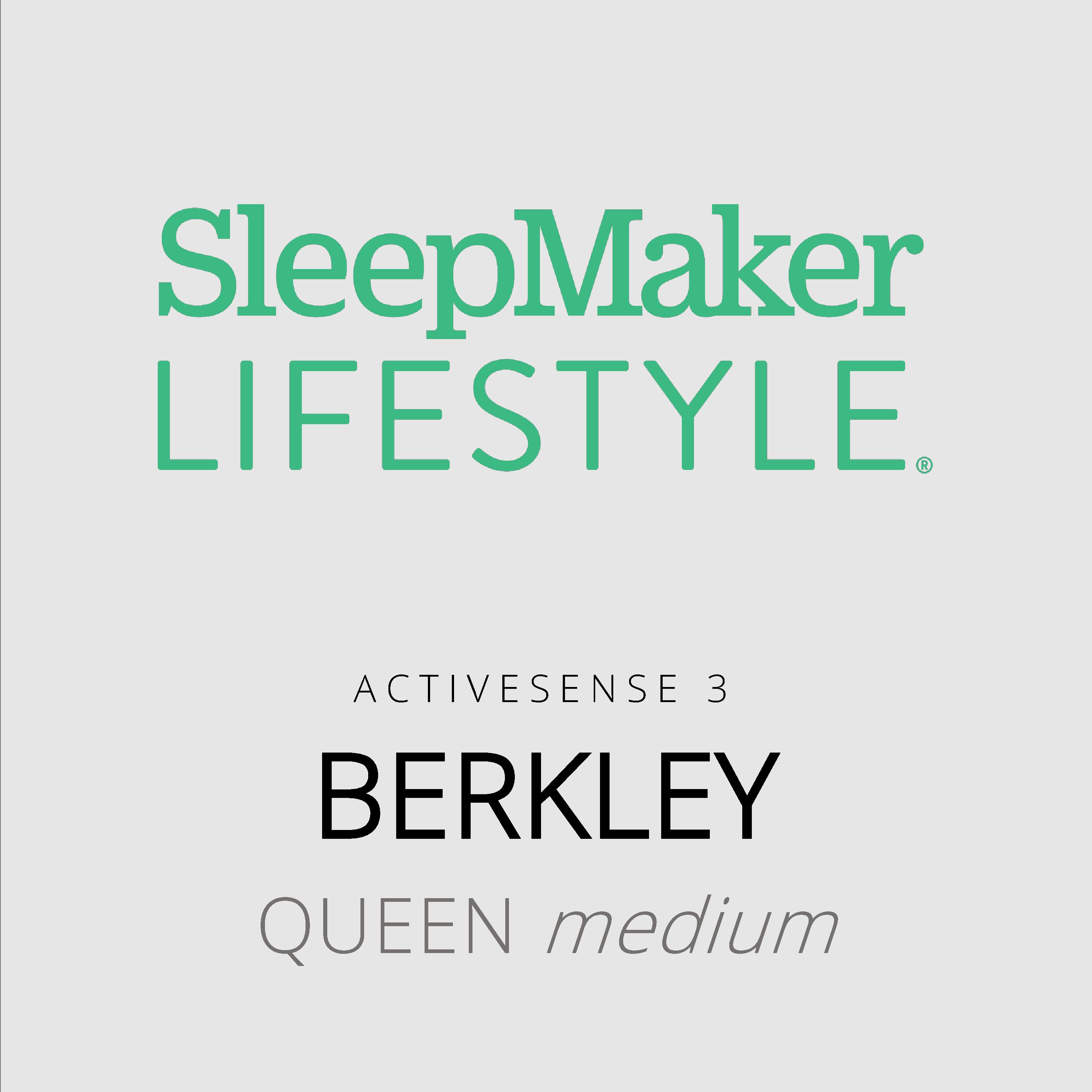 SleepMaker Lifestyle – Berkley – ActiveSense 3 – Queen Medium Mattress