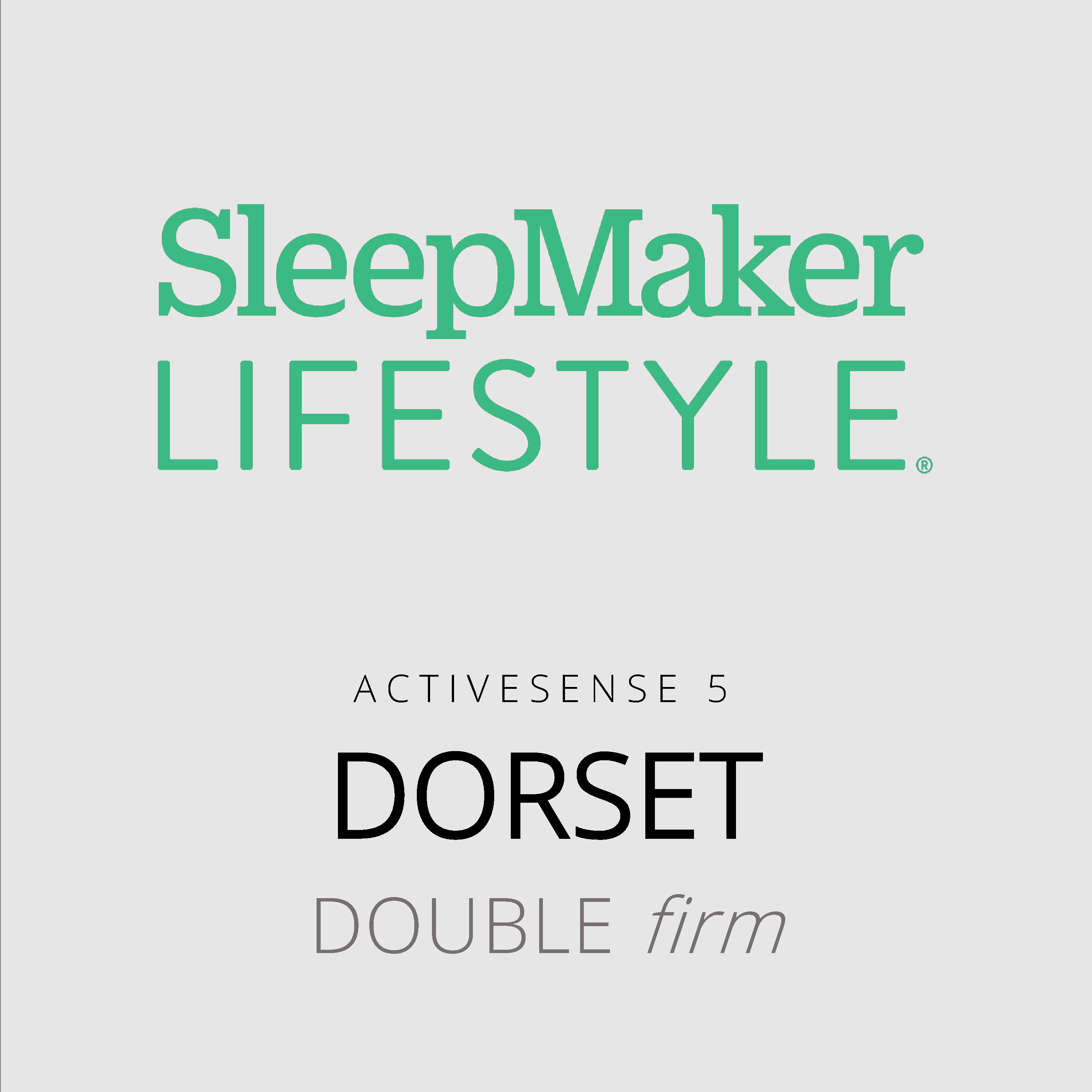 SleepMaker Lifestyle – Dorset – ActiveSense 5 – Double Firm Mattress