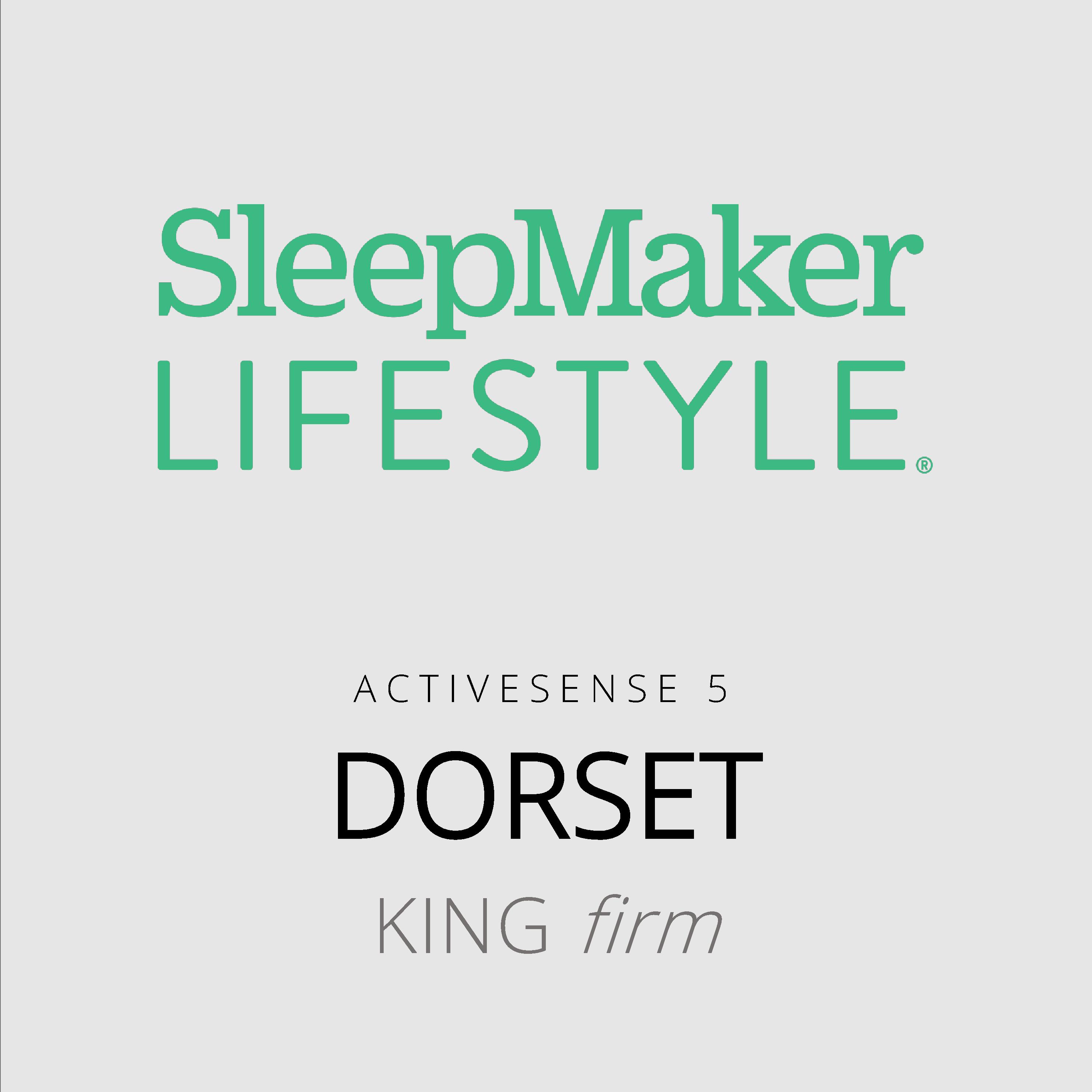 SleepMaker Lifestyle – Dorset – ActiveSense 5 – King Firm Mattress