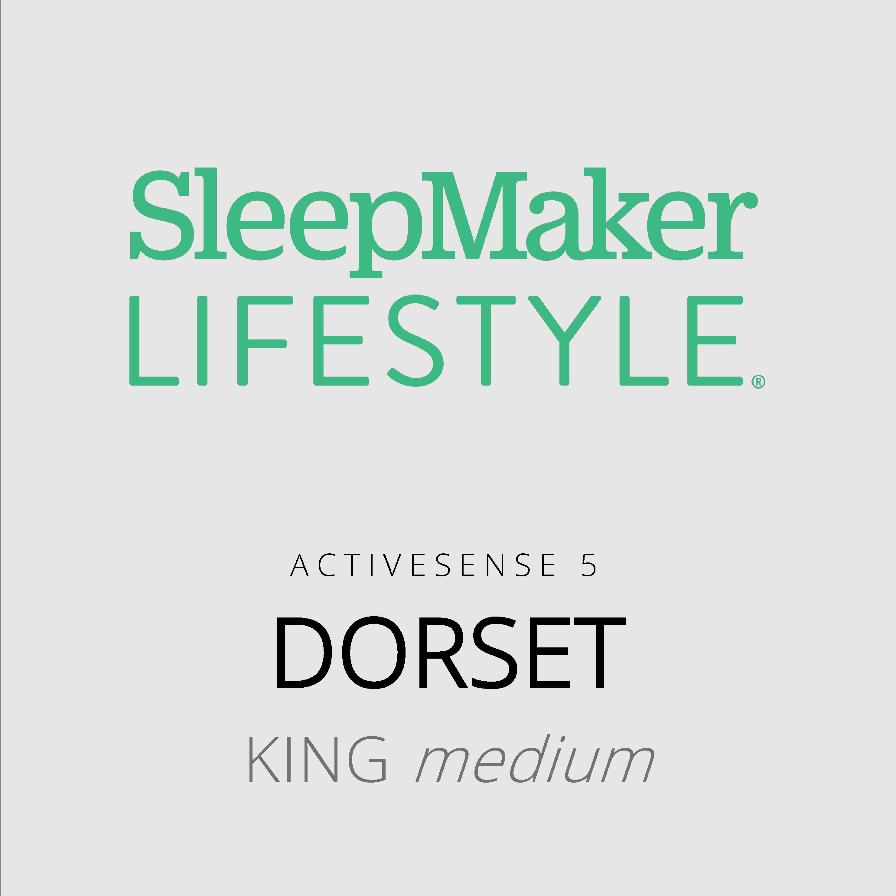 SleepMaker Lifestyle – Dorset – ActiveSense 5 – King Medium Mattress