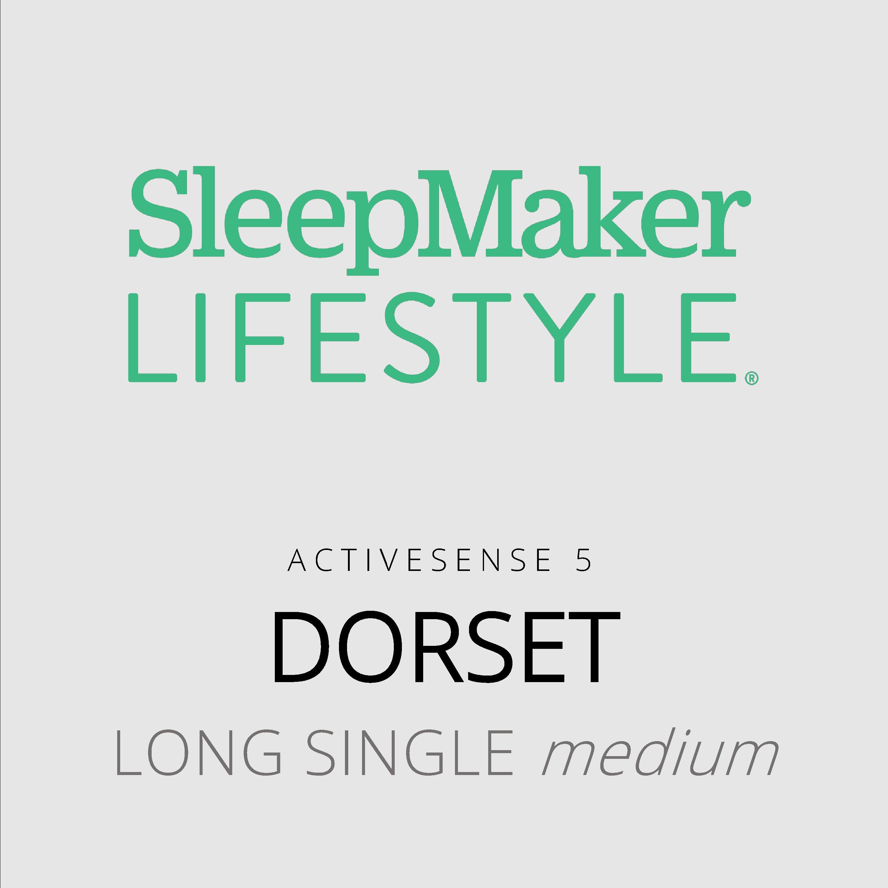 SleepMaker Lifestyle – Dorset – ActiveSense 5 – Long Single Medium Mattress