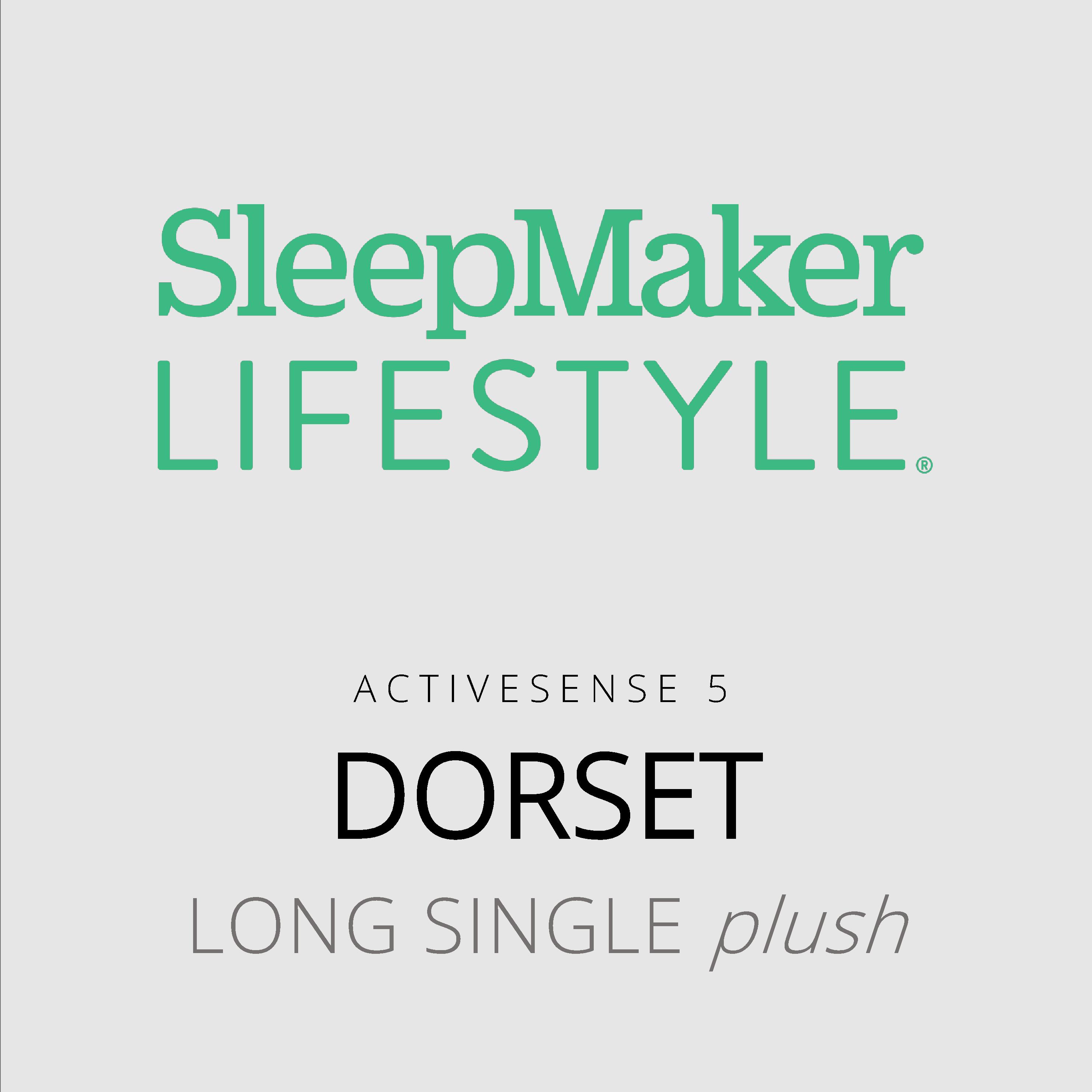 SleepMaker Lifestyle – Dorset – ActiveSense 5 – Long Single Plush Mattress