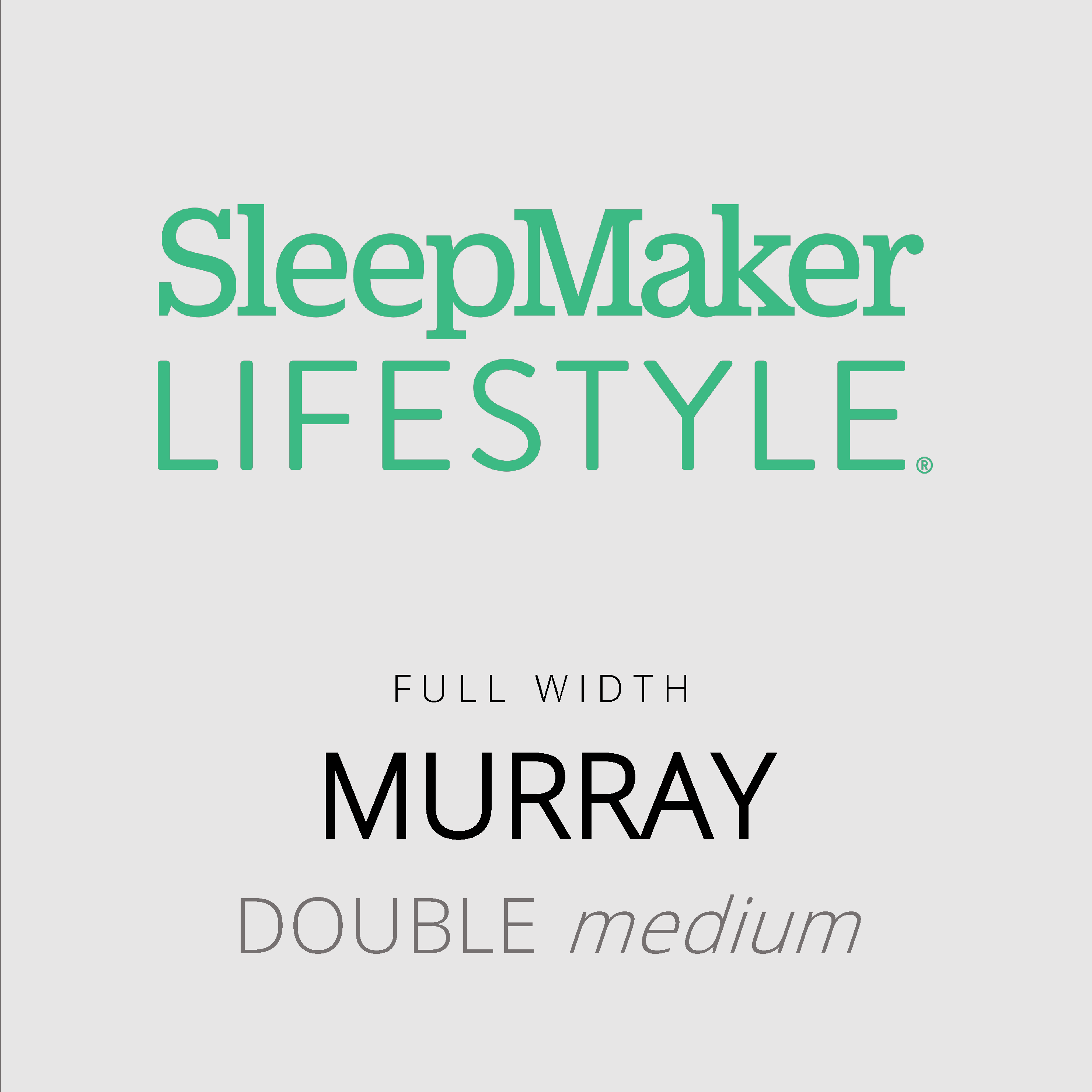 SleepMaker Lifestyle – Murray – Full Width – Double Medium Mattress