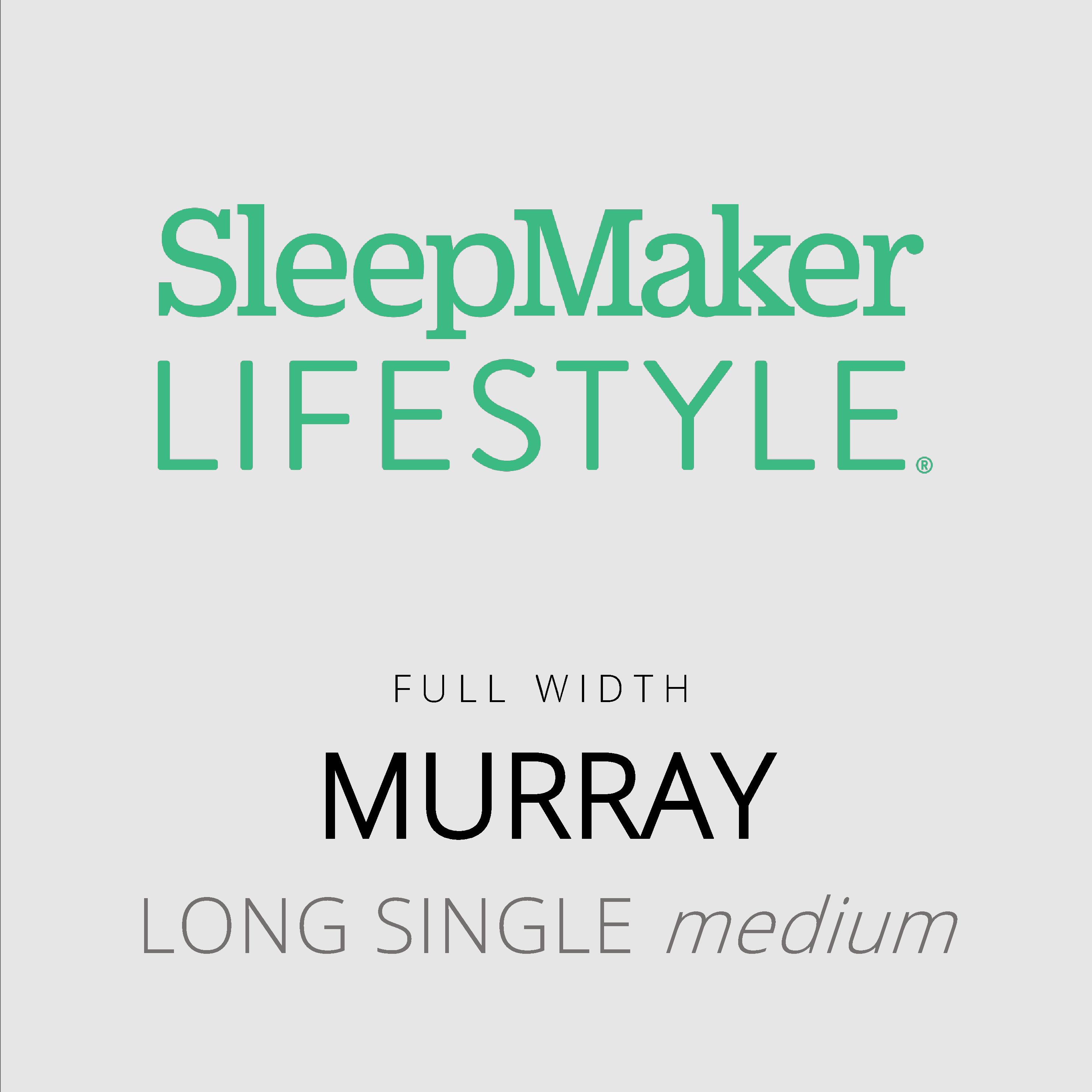 SleepMaker Lifestyle – Murray – Full Width – Long Single Medium Mattress