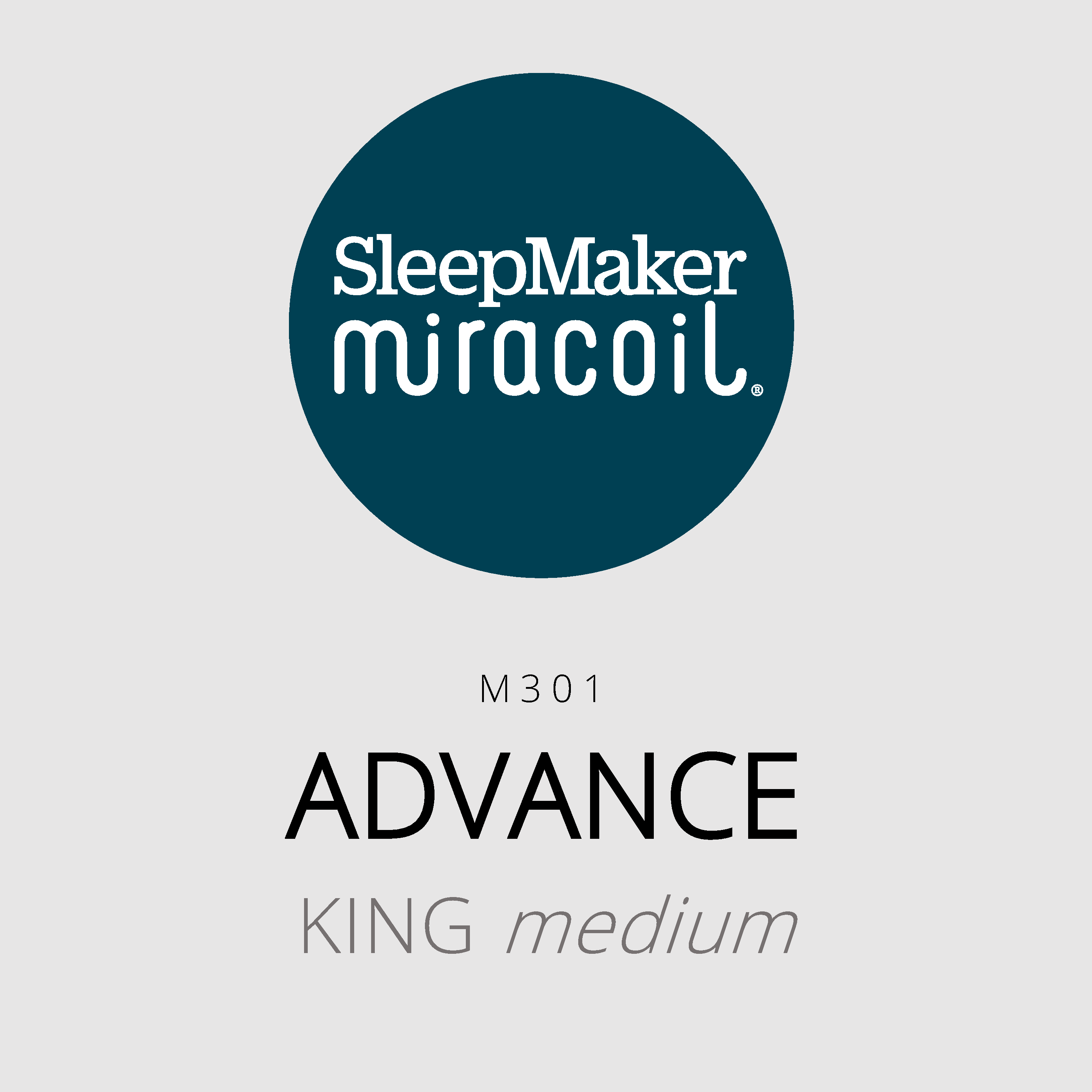 SleepMaker Miracoil – Advance – M301 – King Medium Mattress