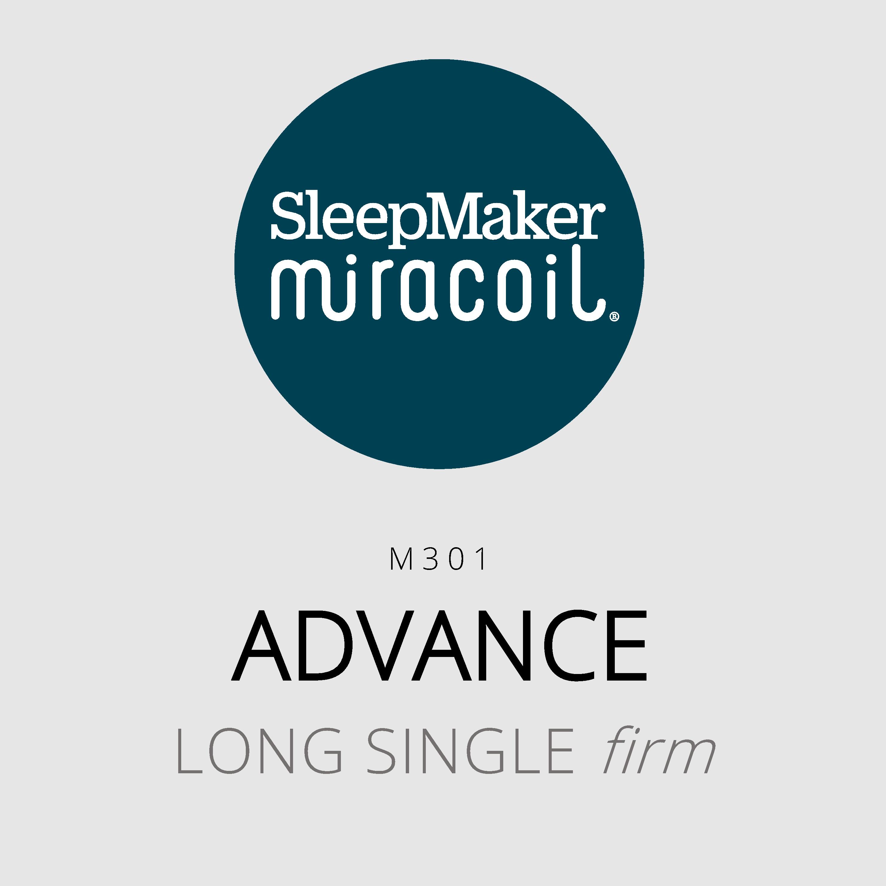 SleepMaker Miracoil – Advance – M301 – Long Single Firm Mattress
