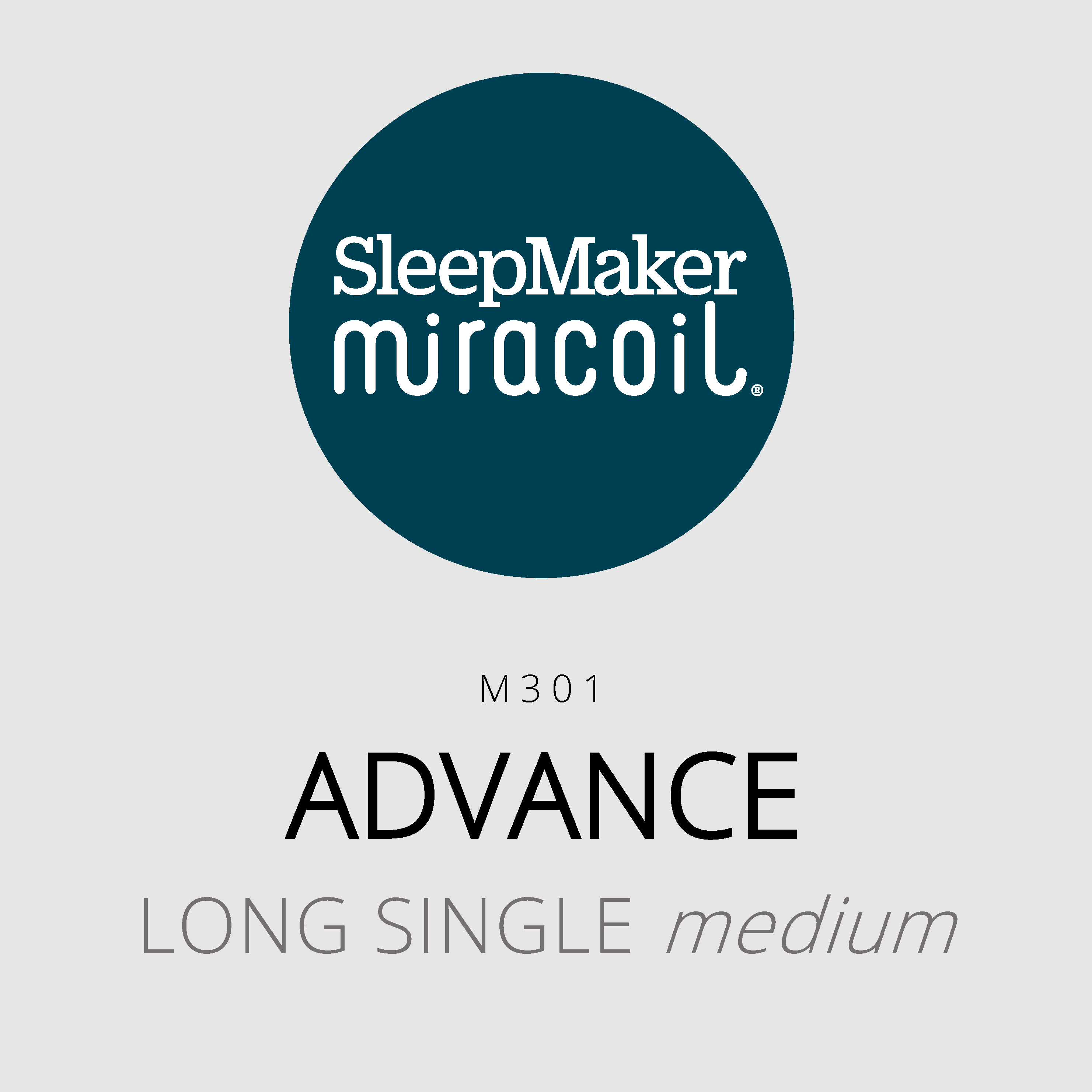 SleepMaker Miracoil – Advance – M301 – Long Single Medium Mattress