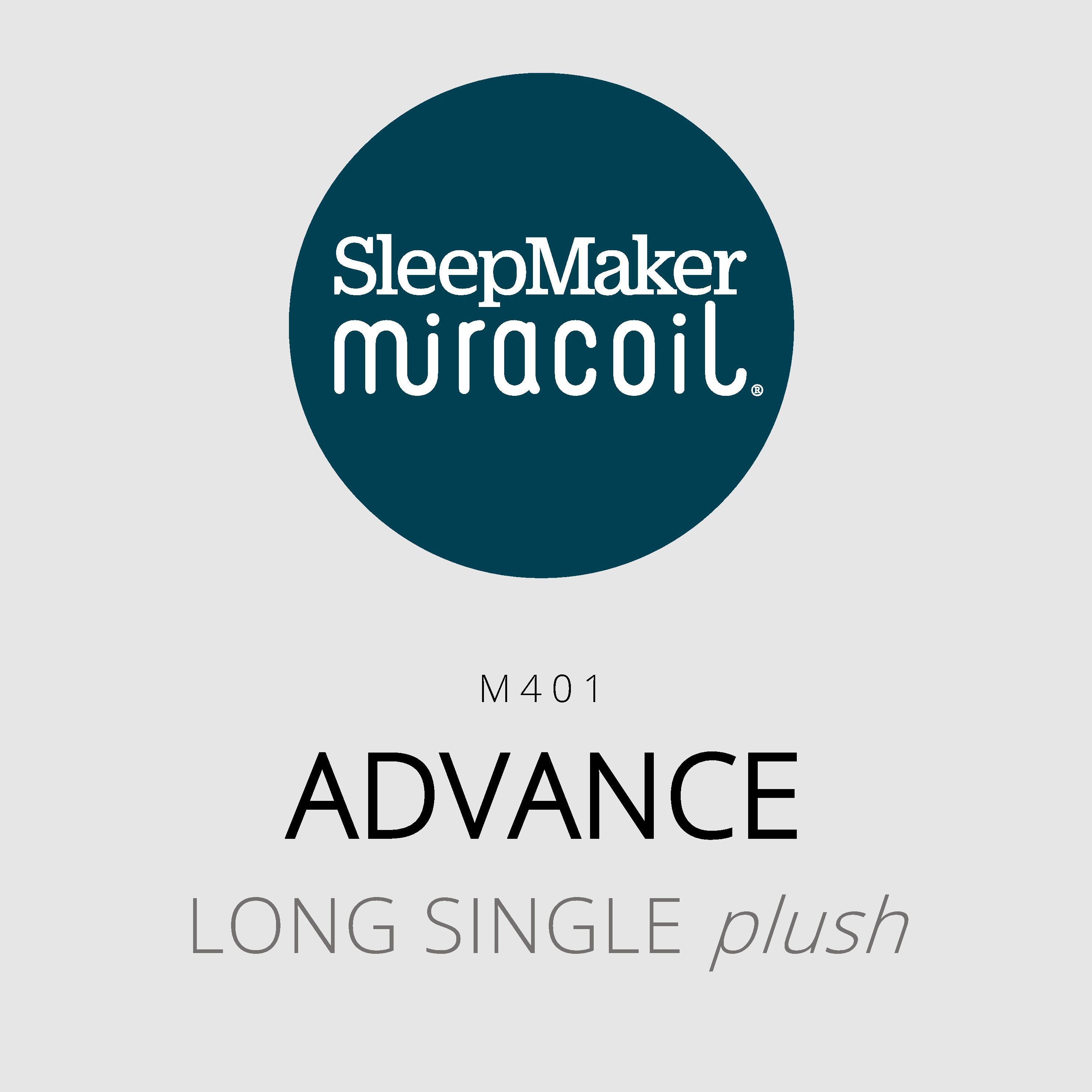 SleepMaker Miracoil – Advance – M401 – Long Single Plush Mattress