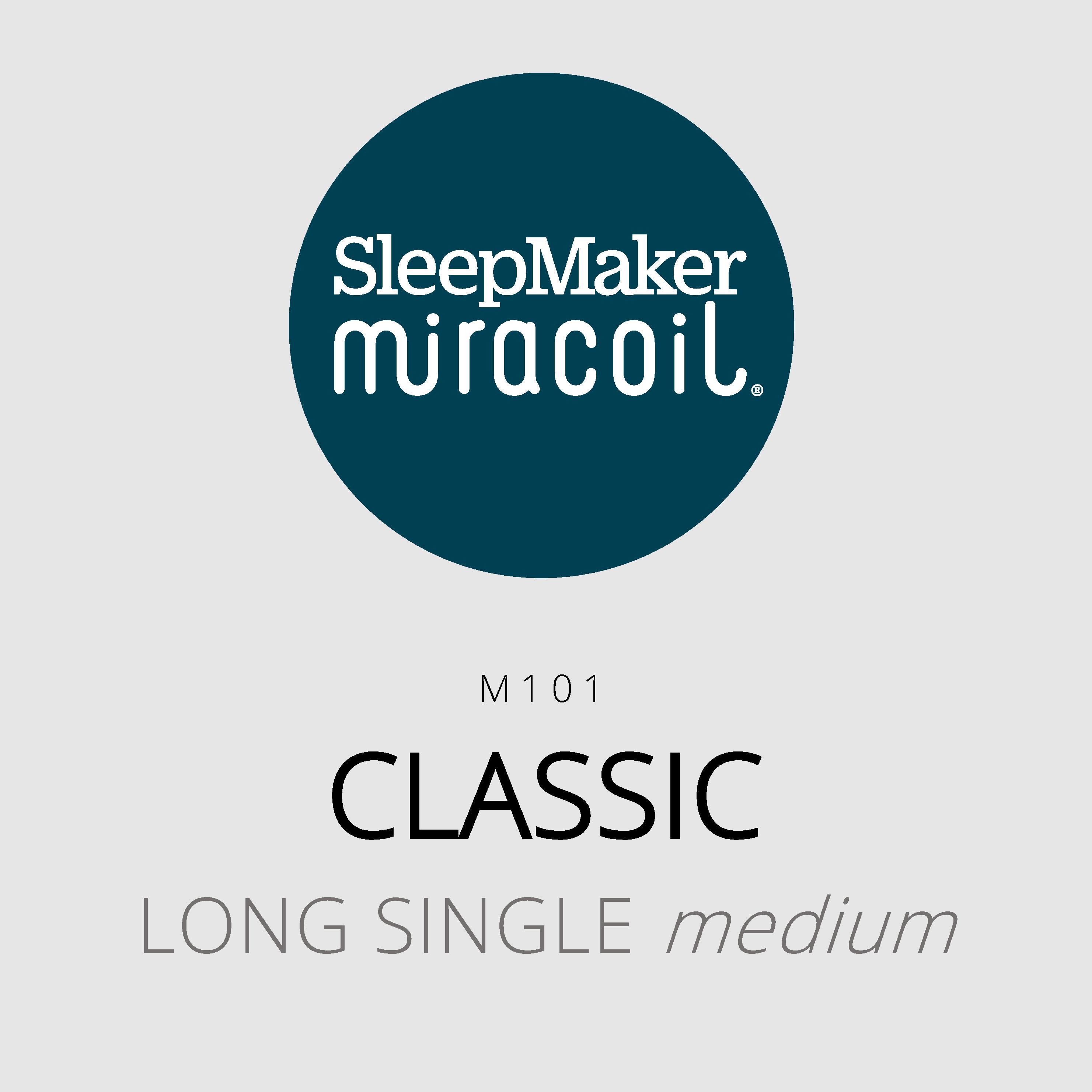 SleepMaker Miracoil – Classic – M101 – Long Single Medium Mattress