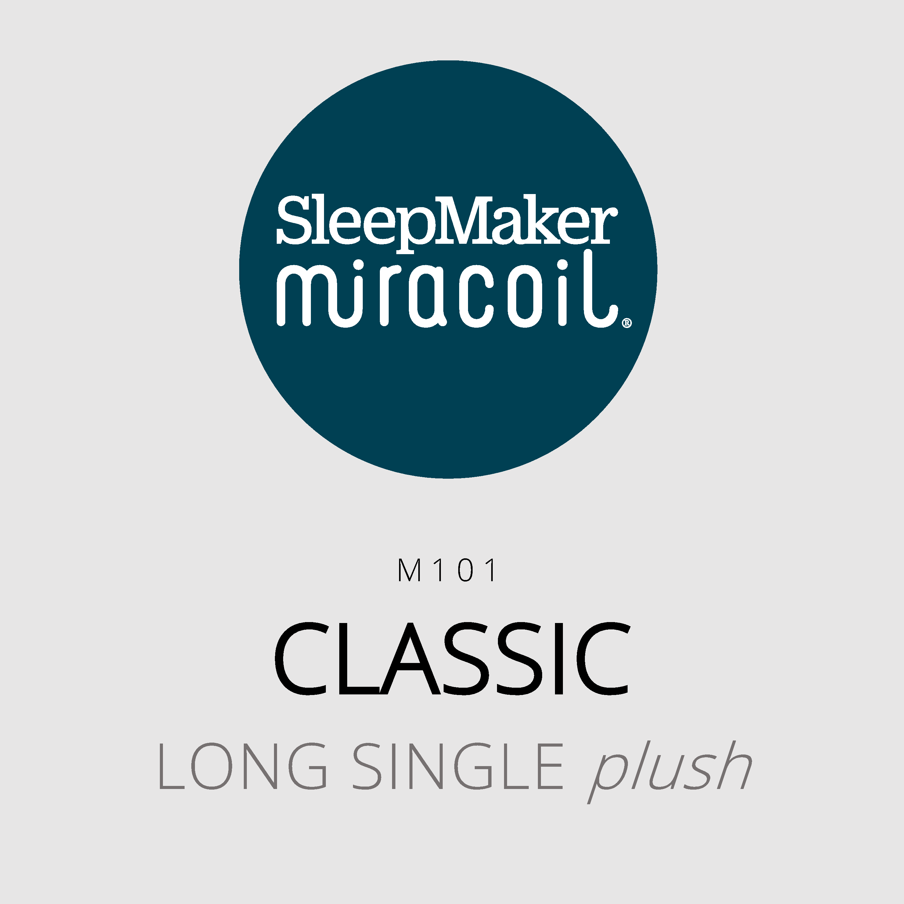 SleepMaker Miracoil – Classic – M101 – Long Single Plush Mattress